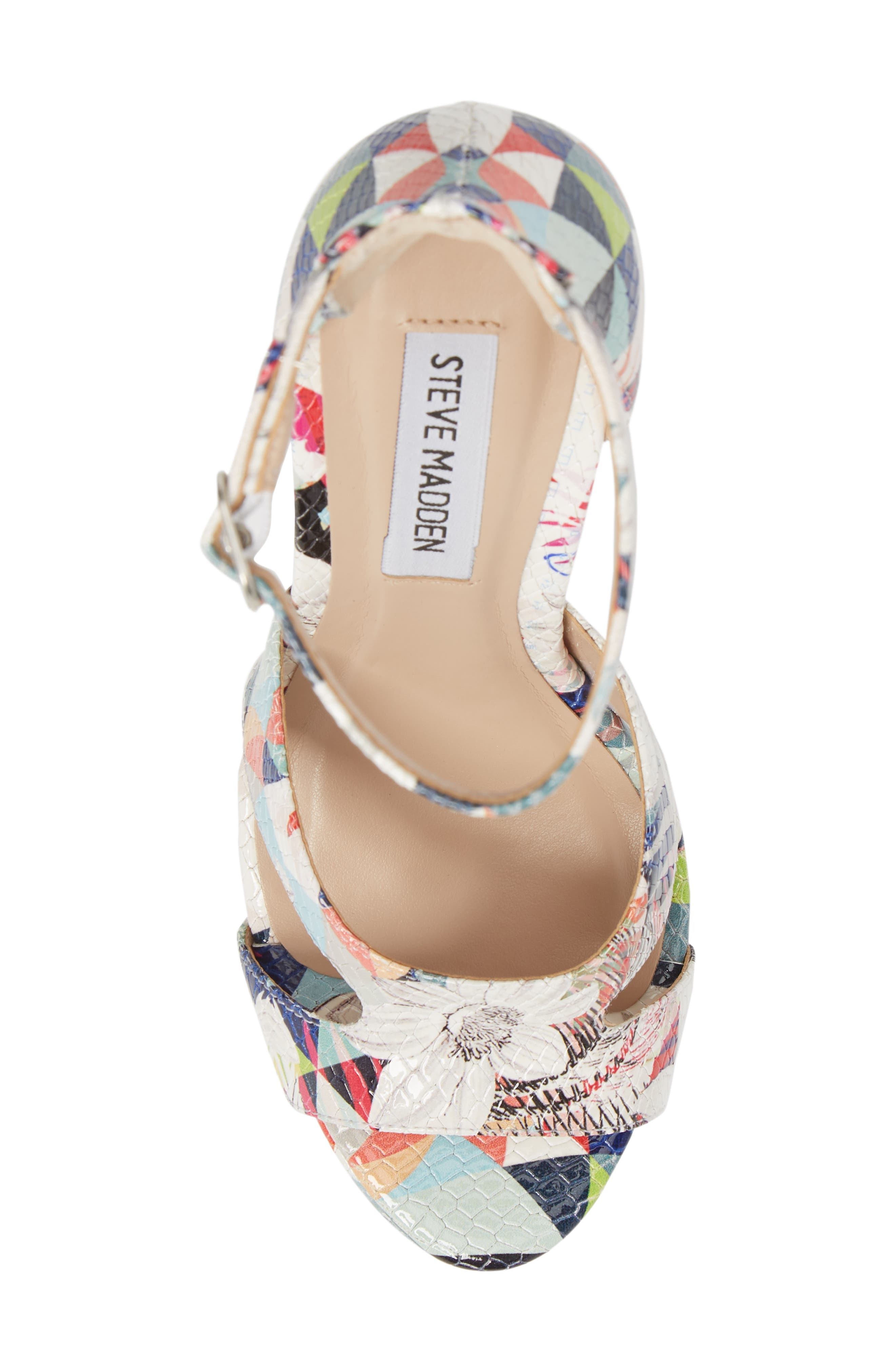Janelle Platform Sandal,                             Alternate thumbnail 5, color,                             Bright Multi