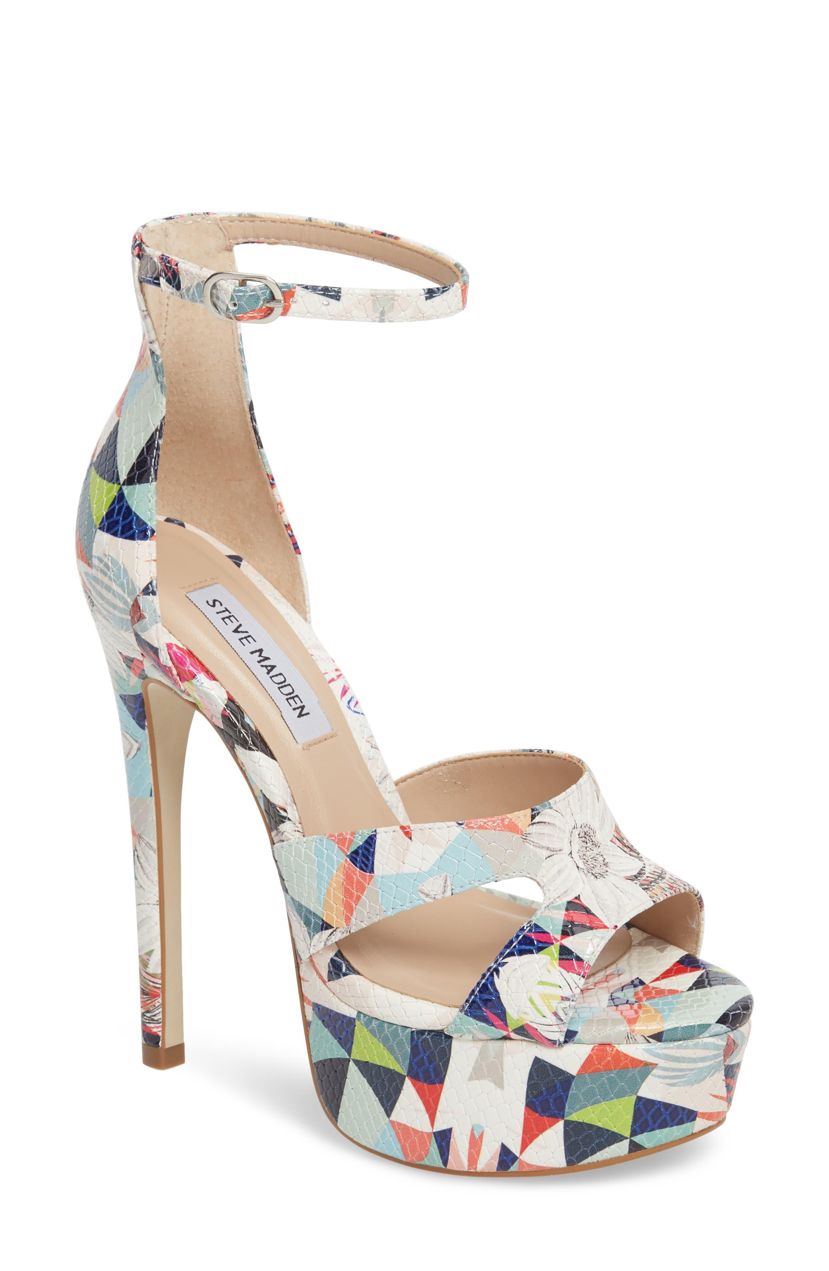 Janelle Platform Sandal,                             Main thumbnail 1, color,                             Bright Multi