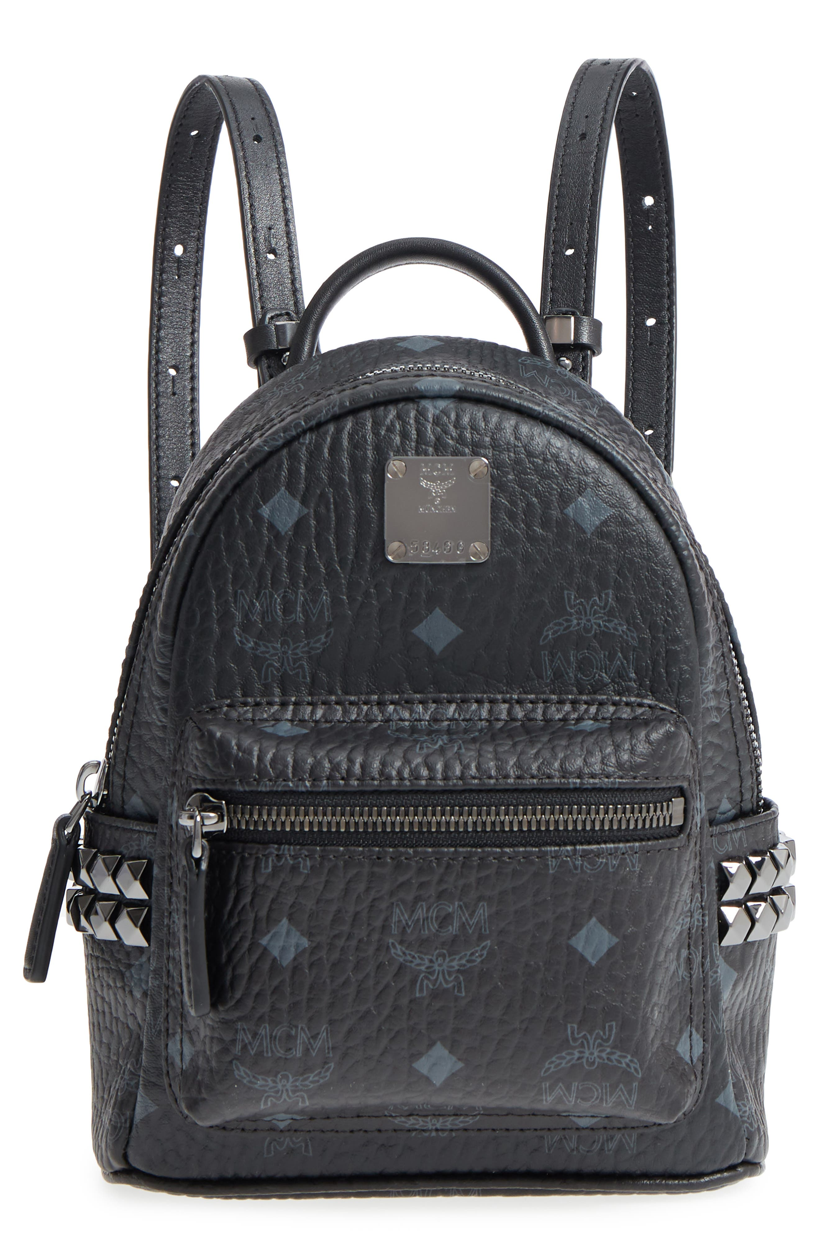 'X-Mini Stark Side Stud' Convertible Backpack,                         Main,                         color, Black