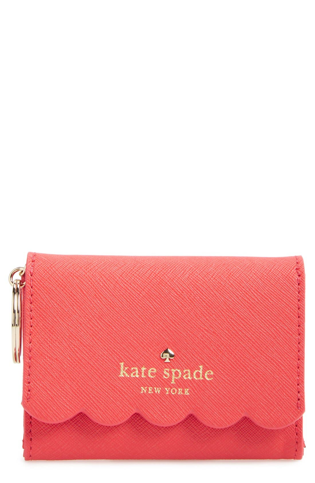 'lily avenue - darla' leather wallet,                         Main,                         color, Geranium/ Bright Geranium
