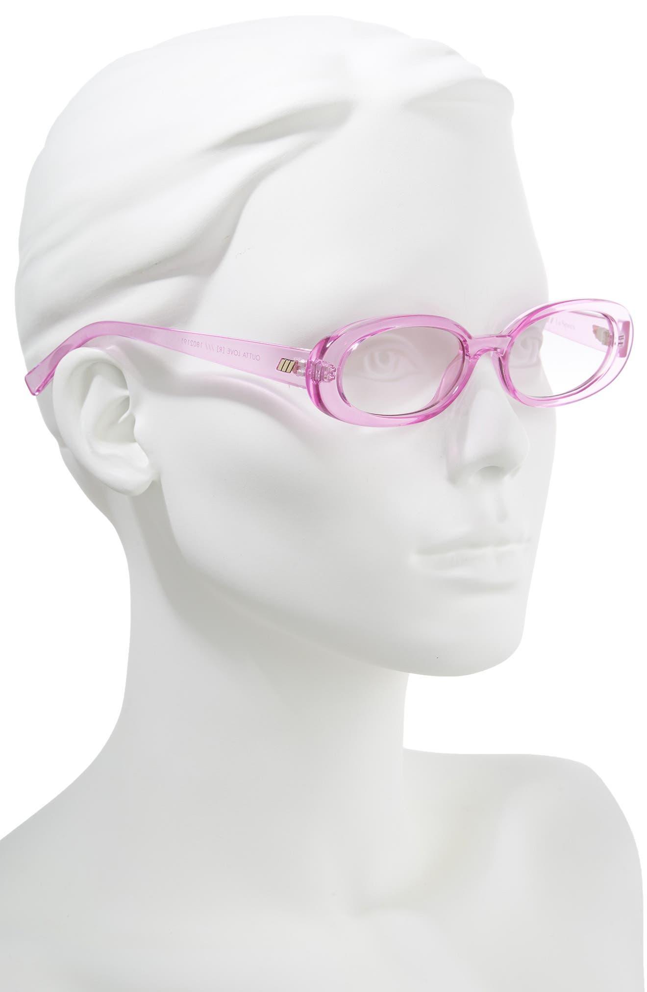Outta Love 49mm Cat Eye Sunglasses,                             Alternate thumbnail 2, color,                             Powder-Puff