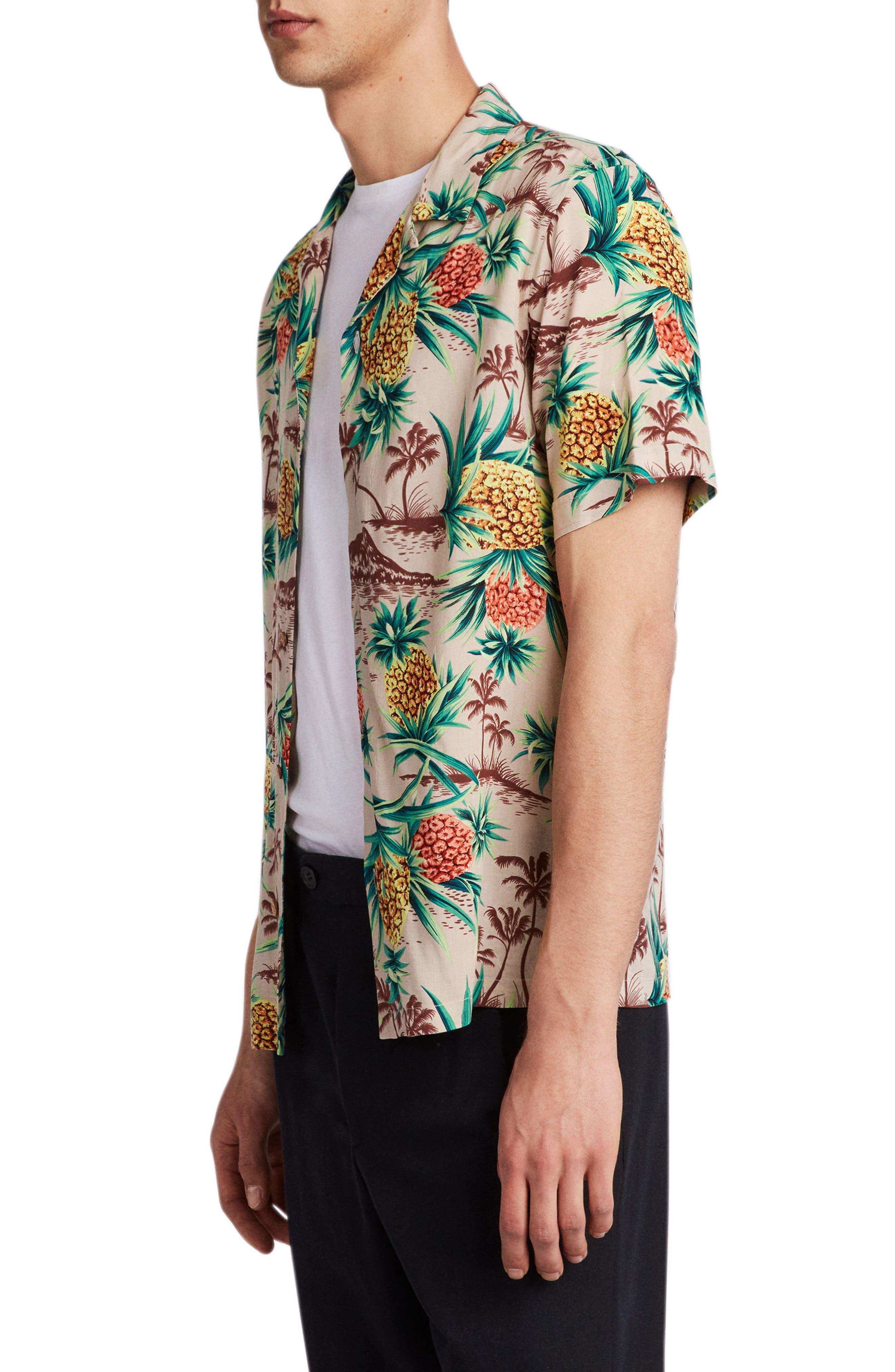 Endeavour Regular Fit Short Sleeve Sport Shirt,                             Alternate thumbnail 3, color,                             Mushroom Brown