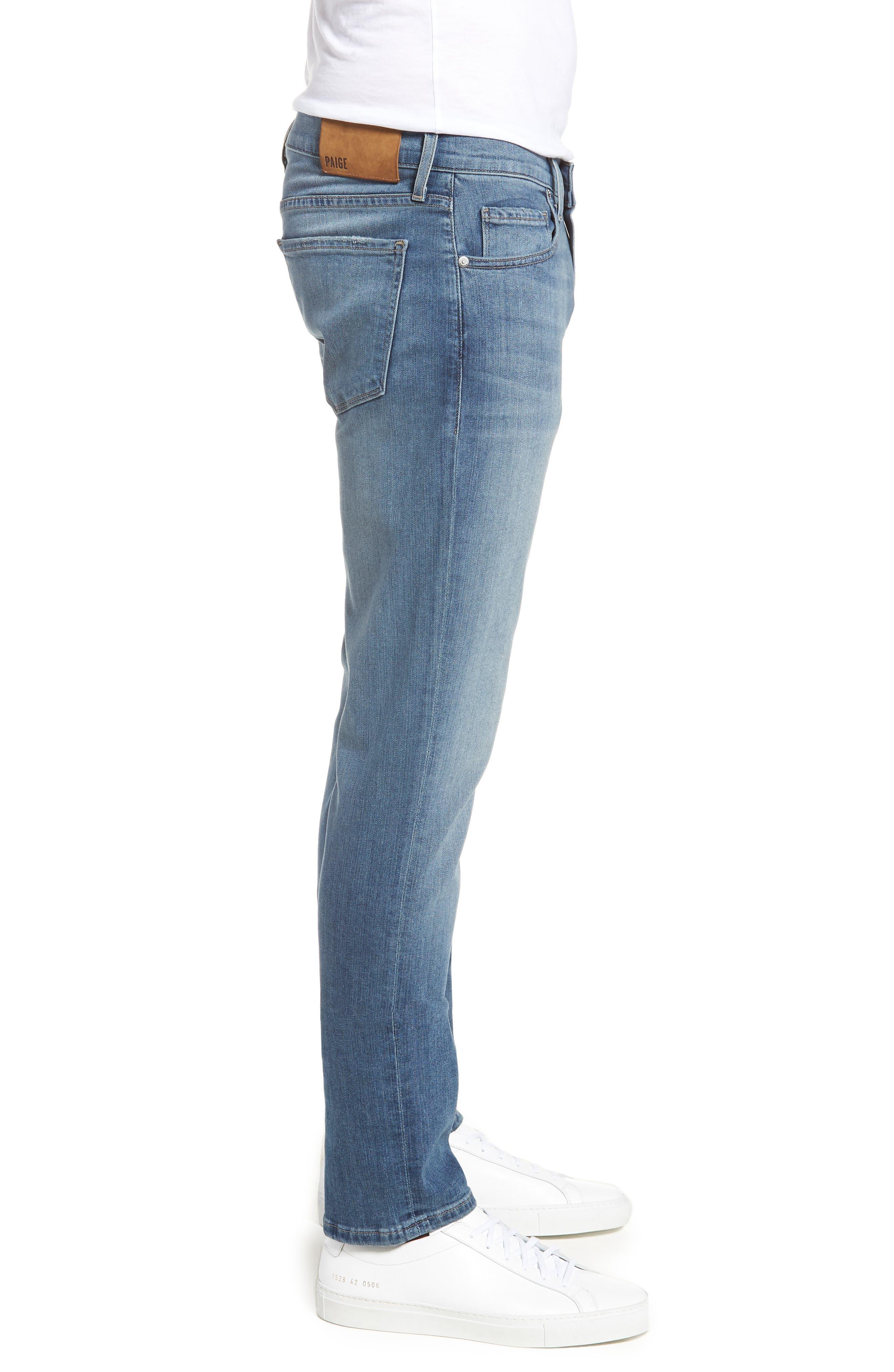 Transcend - Lennox Slim Fit Jeans,                             Alternate thumbnail 3, color,                             Allman