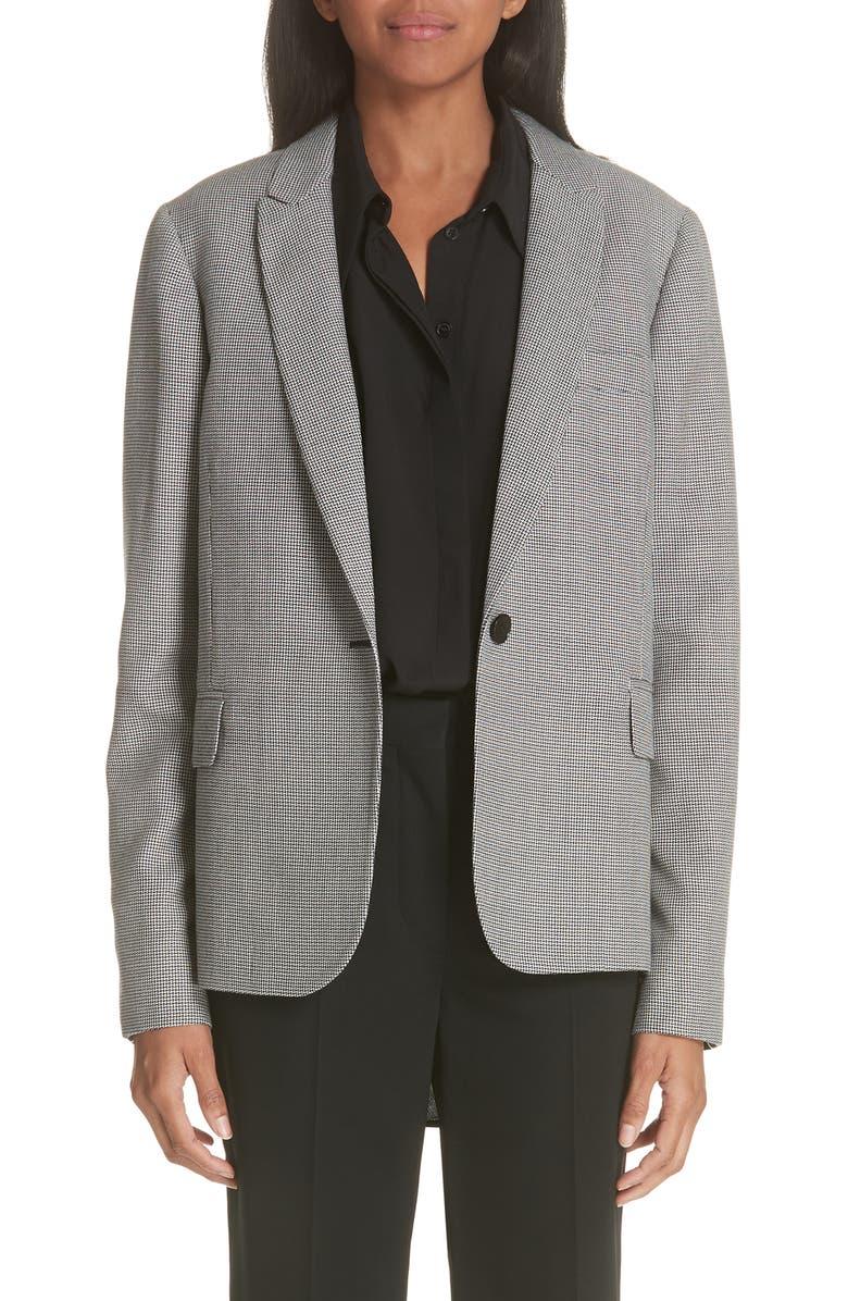 Contrast Back Wool  Silk Blazer
