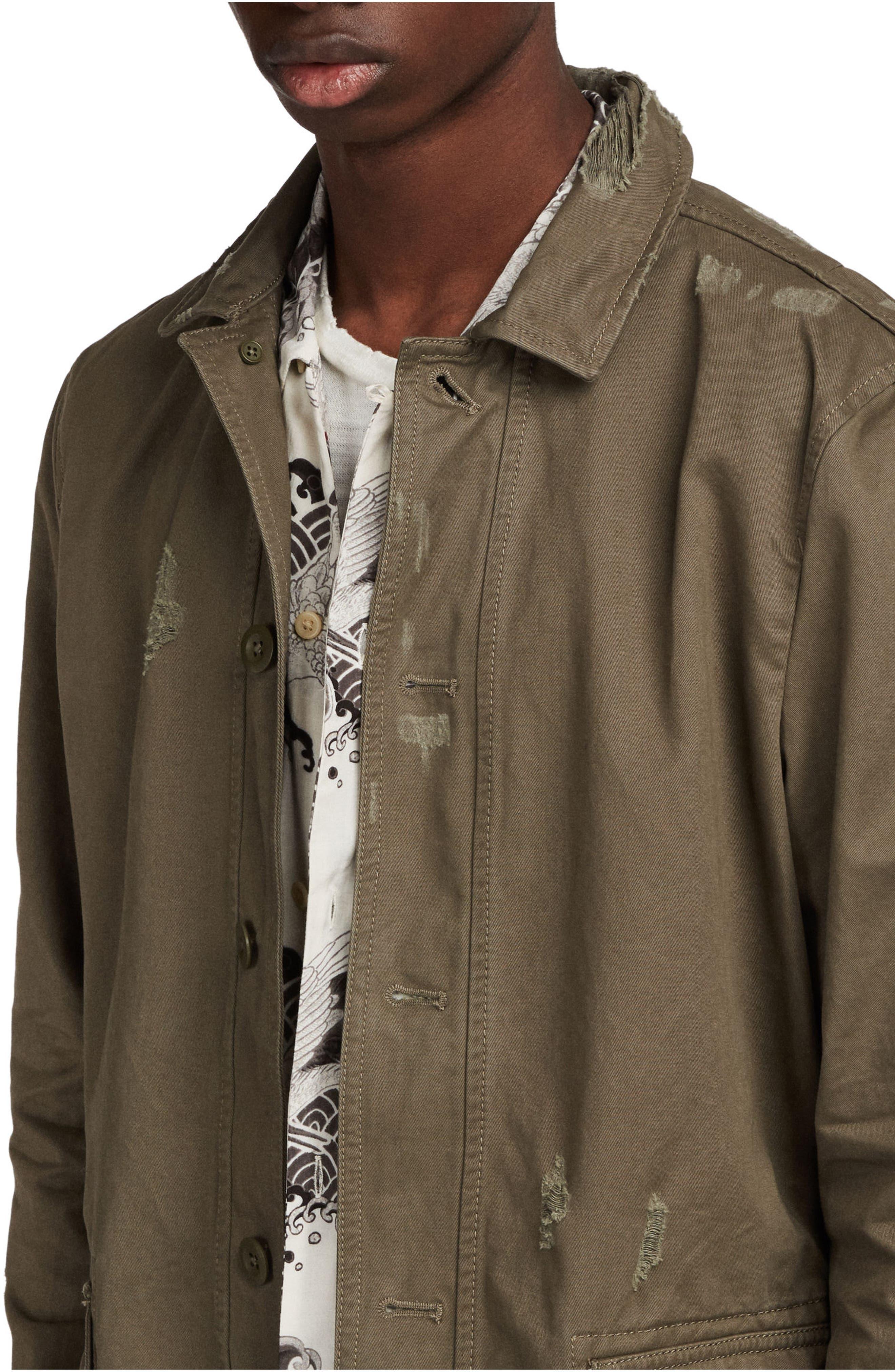 Sasaki Shirt Jacket,                             Alternate thumbnail 5, color,                             Khaki Green