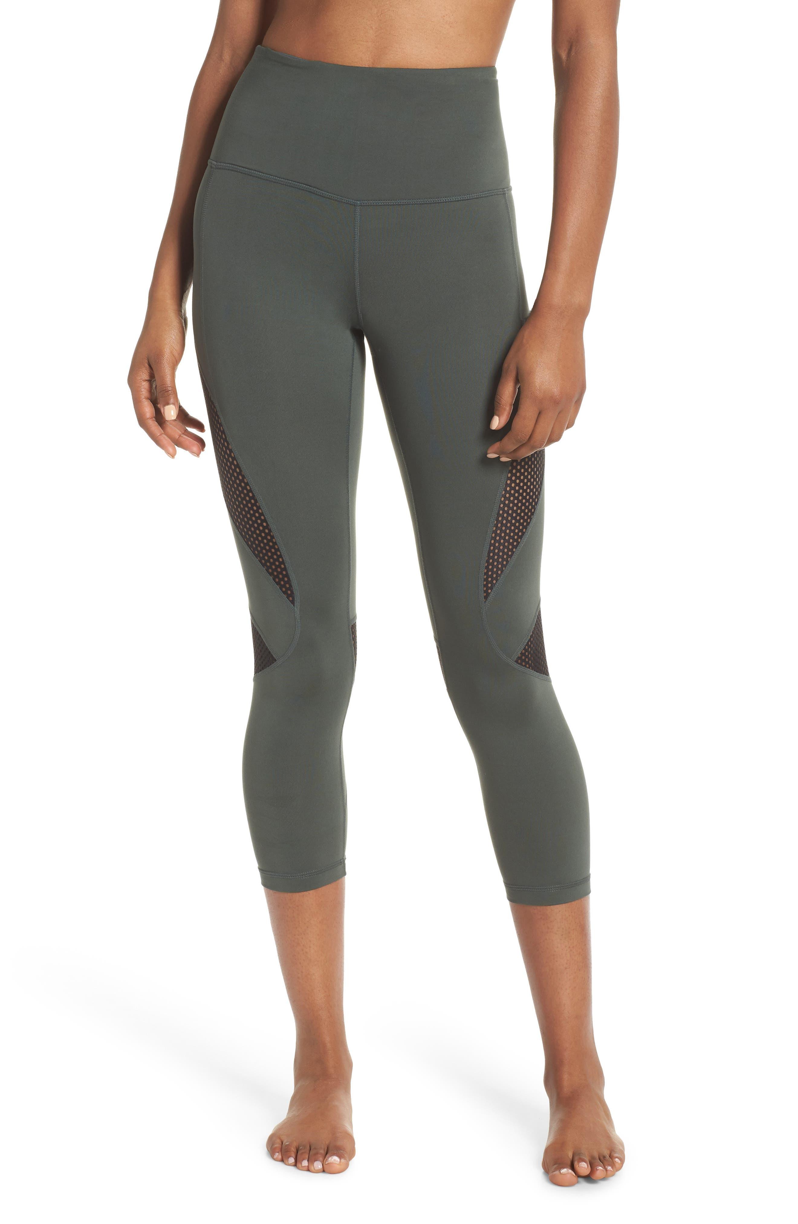 High Waist Crop Leggings,                         Main,                         color, Grey Urban