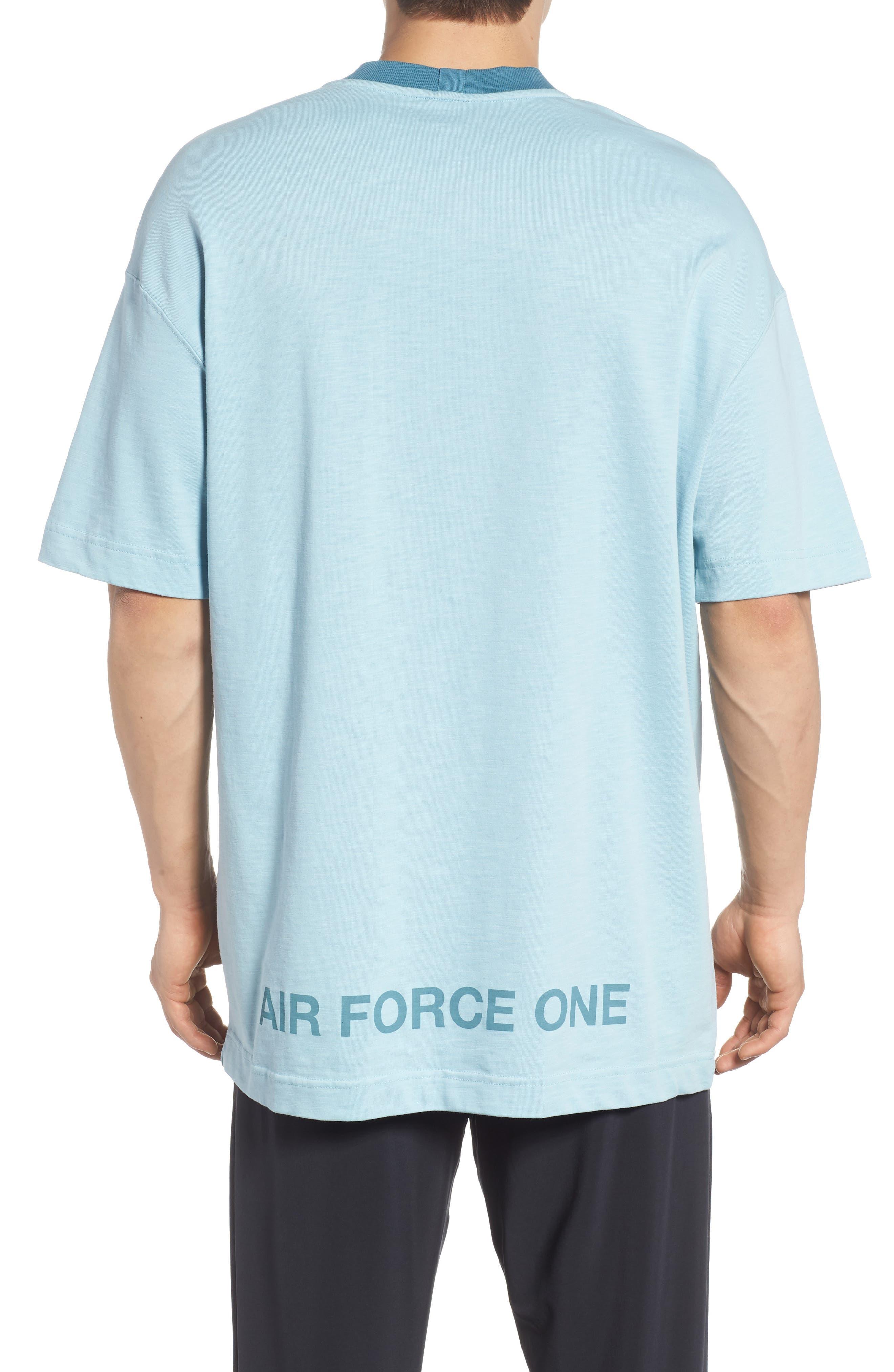 Sportswear AF1 Graphic T-Shirt,                             Alternate thumbnail 2, color,                             Ocean Bliss/ Noise Aqua