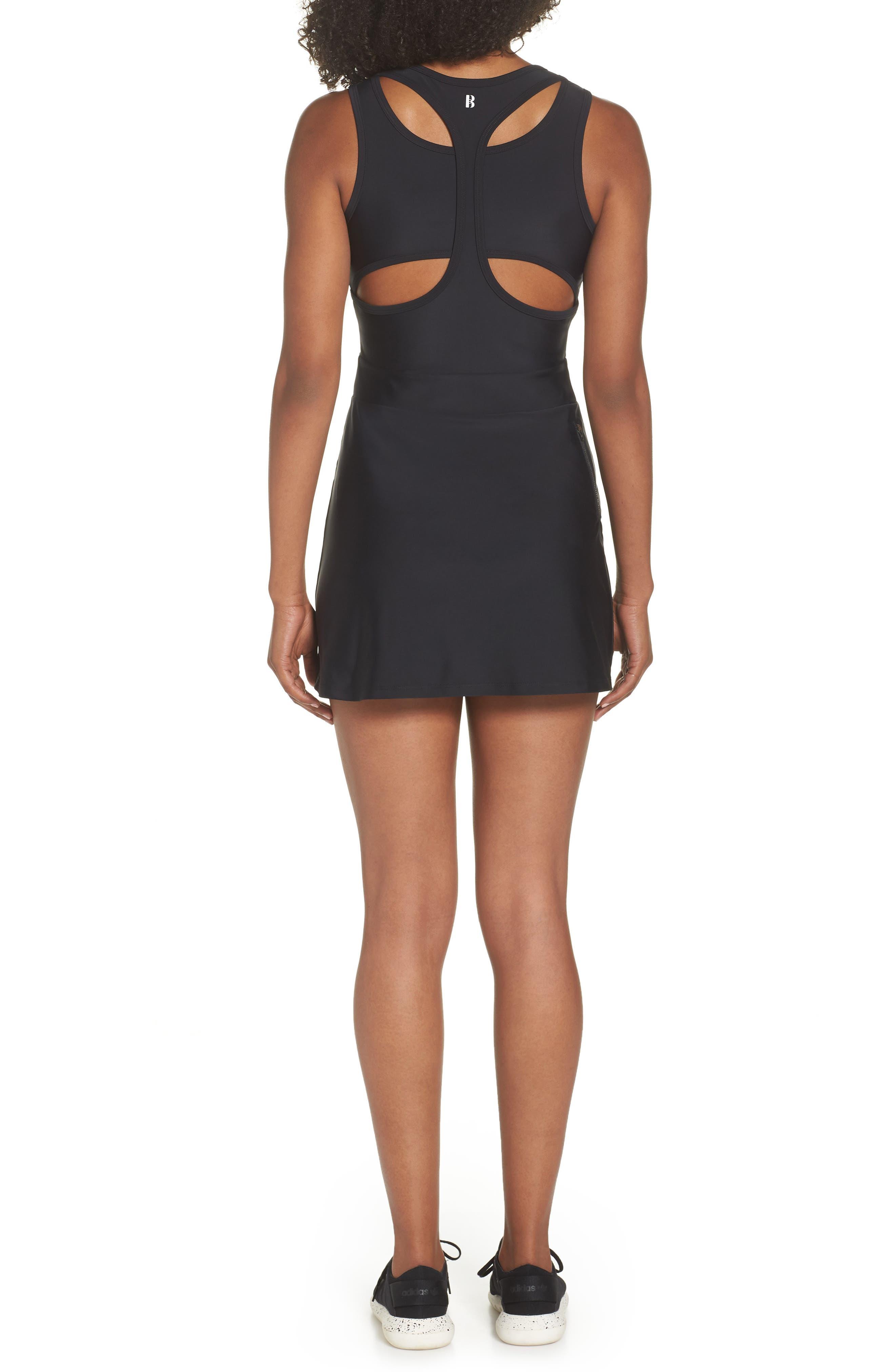 BoomBoom Athletica Tennis Dress,                             Alternate thumbnail 2, color,                             Black/ Navy