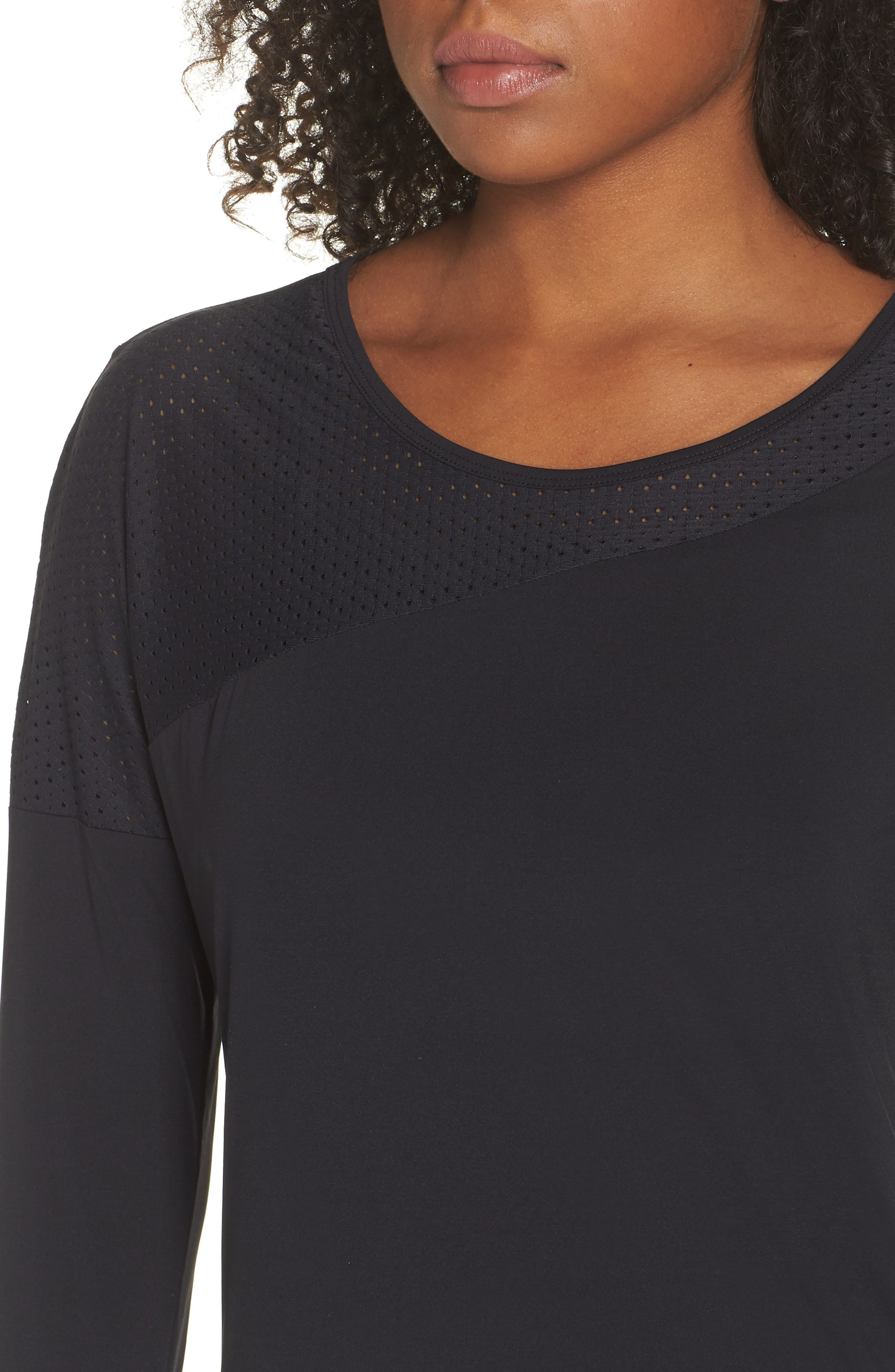 BoomBoom Athletica Easy Tunic,                             Alternate thumbnail 4, color,                             Black