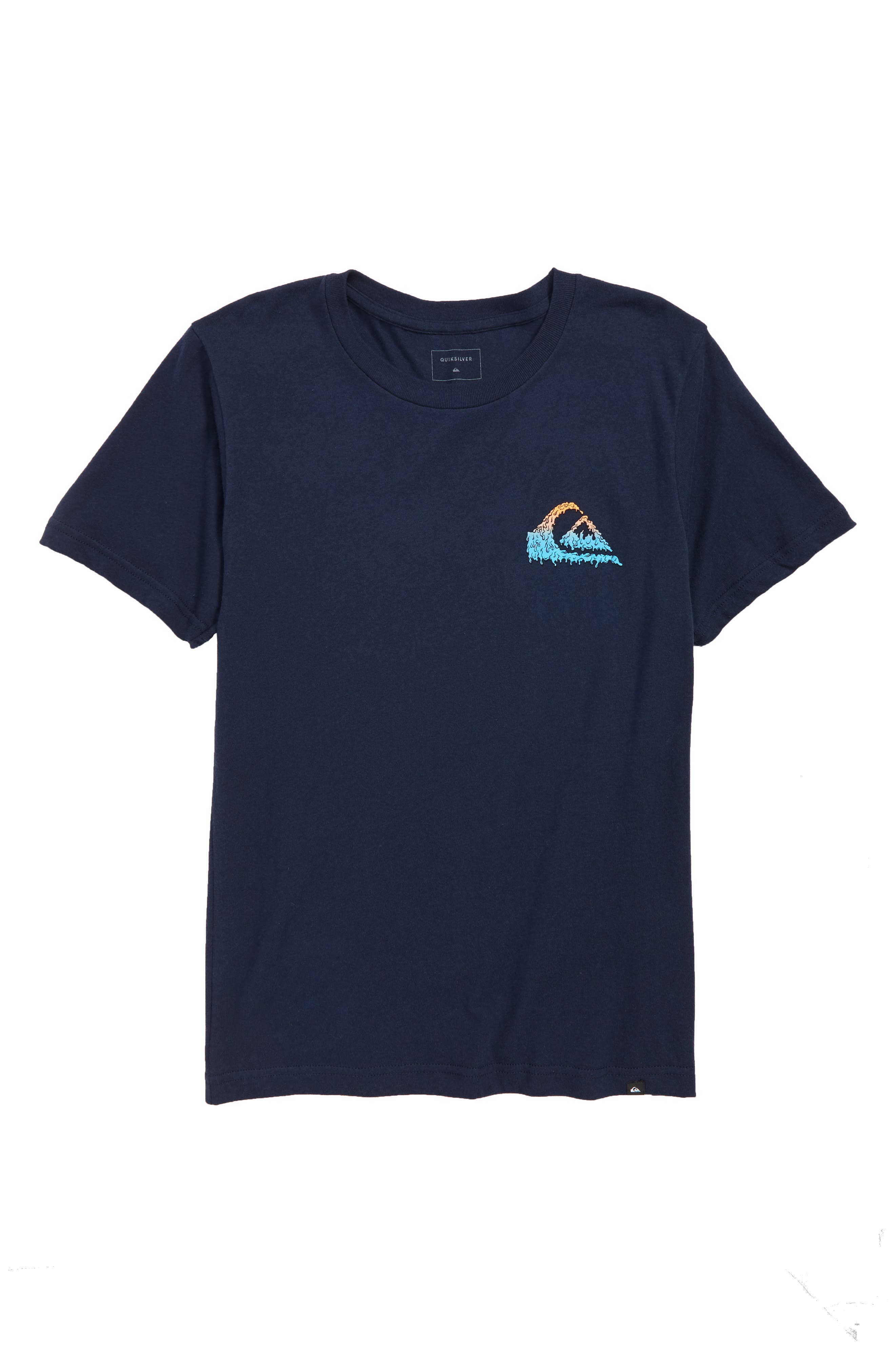 Quicksilver Gloss Varnish Short Sleeve T-Shirt,                         Main,                         color, Navy Blazer