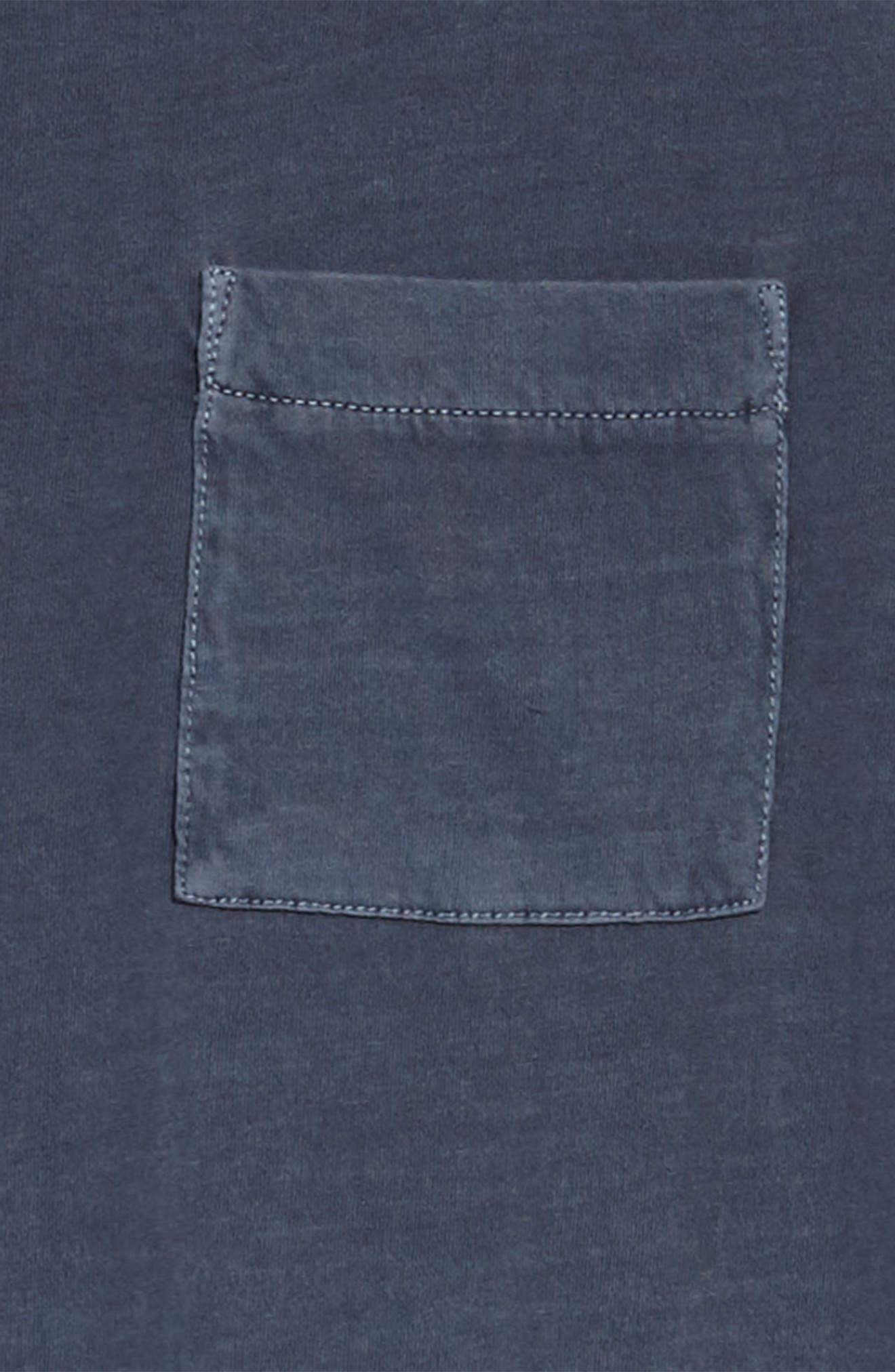 Washed T-Shirt Dress,                             Alternate thumbnail 3, color,                             Navy Armada