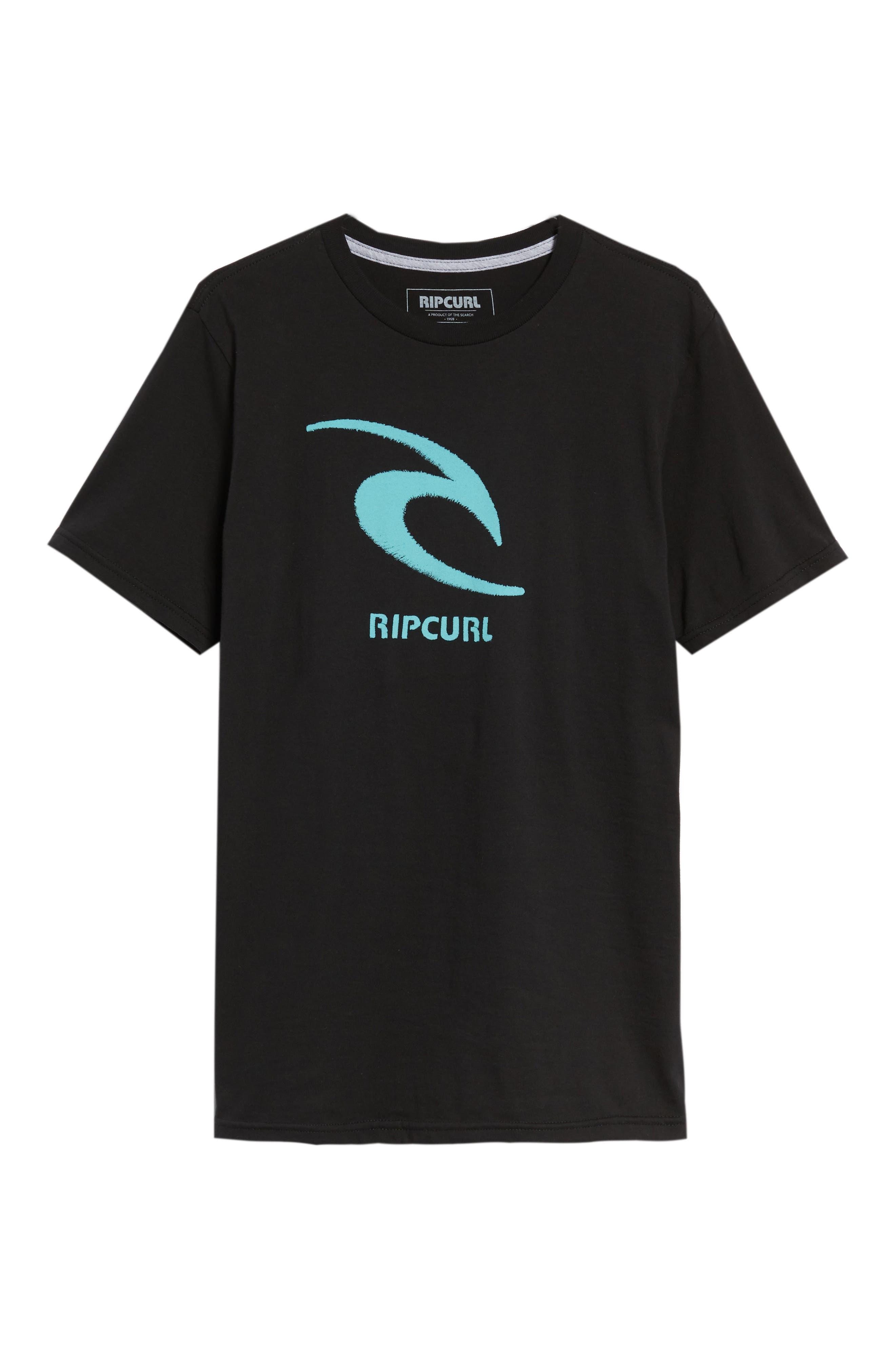 Threaded Classic T-Shirt,                             Alternate thumbnail 6, color,                             Black