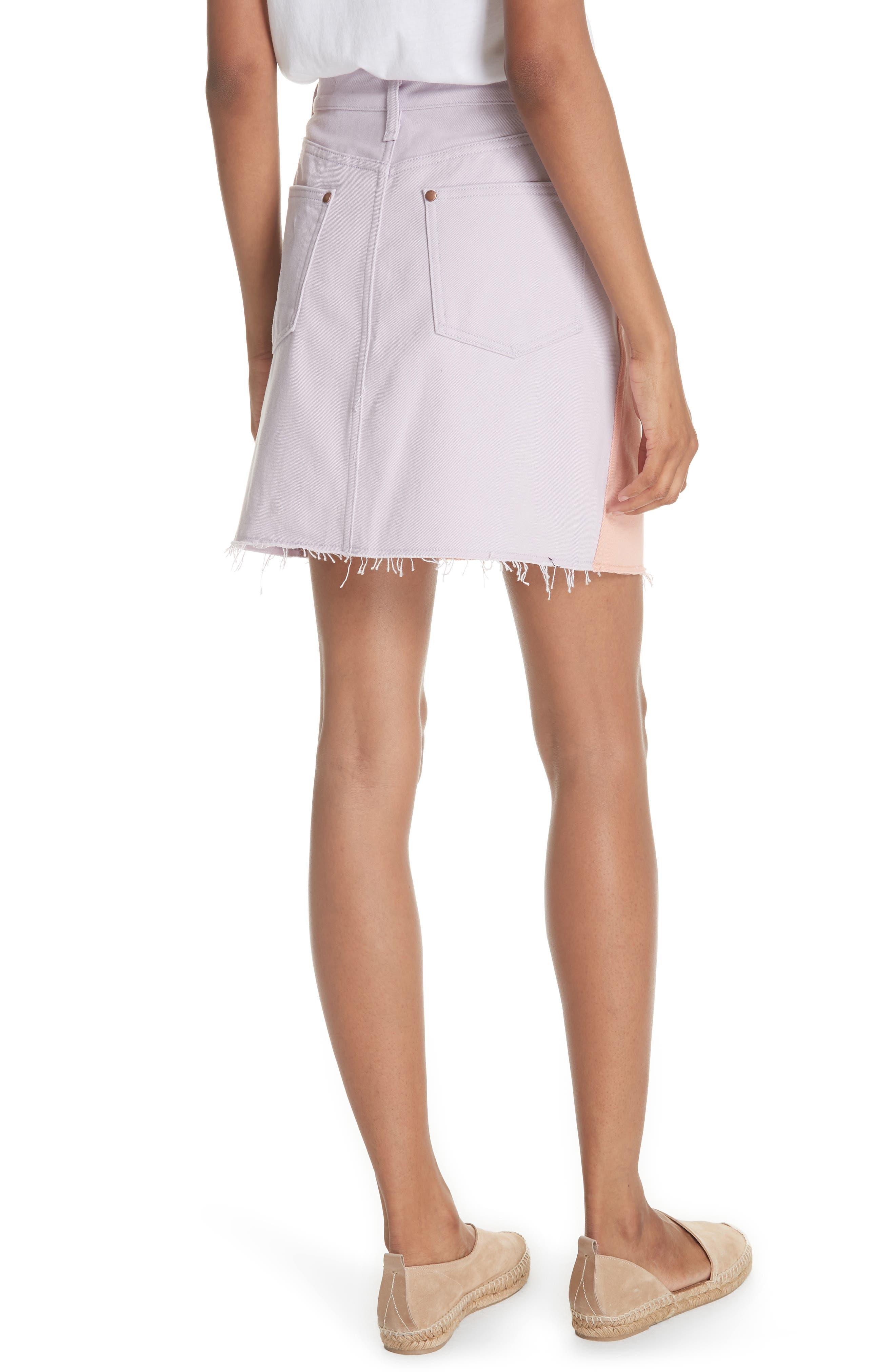 Moss Skirt,                             Alternate thumbnail 2, color,                             Peach/ Lilac