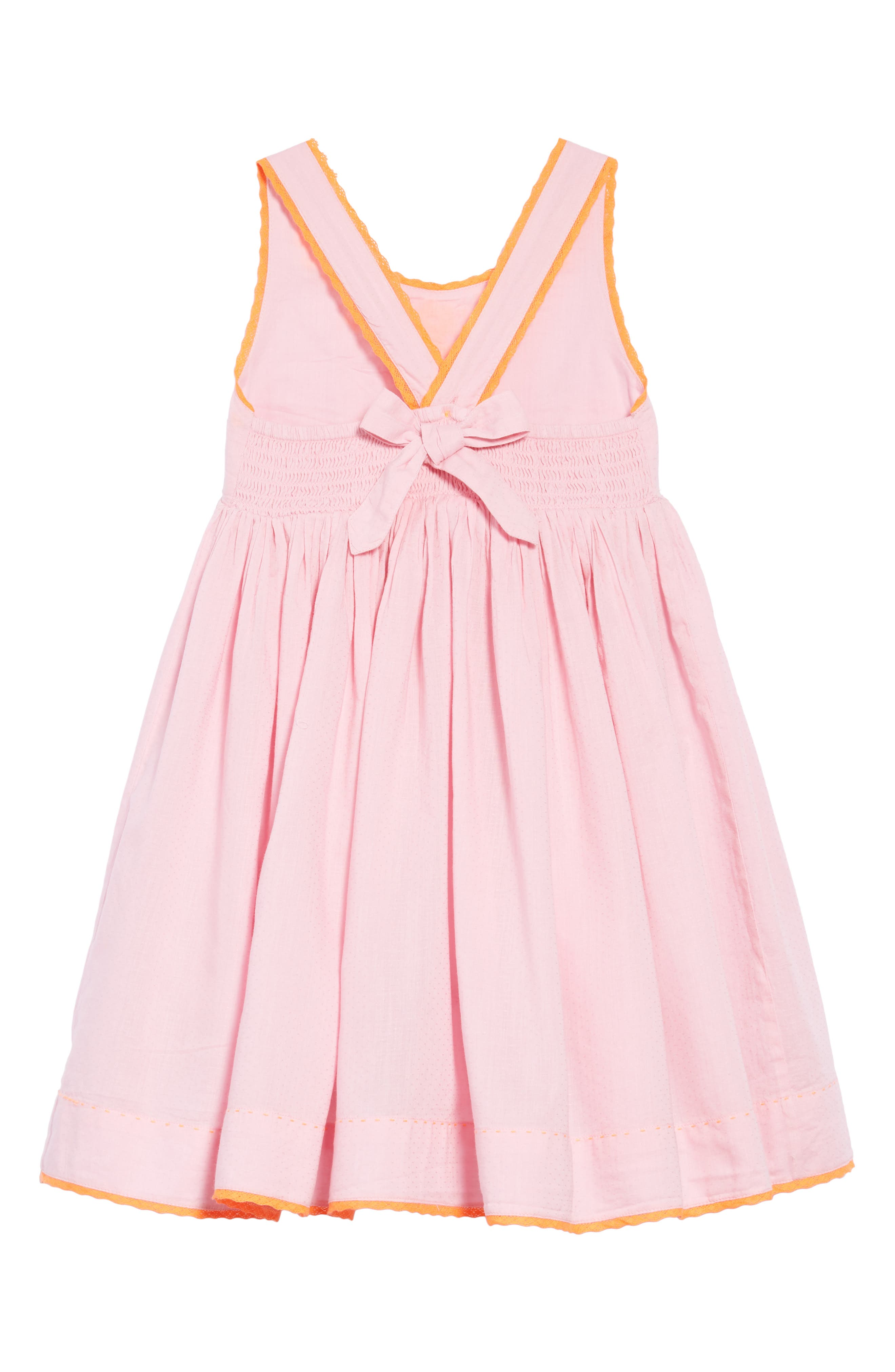 Woven Embroidered Dress,                             Alternate thumbnail 2, color,                             Rosebud Pink
