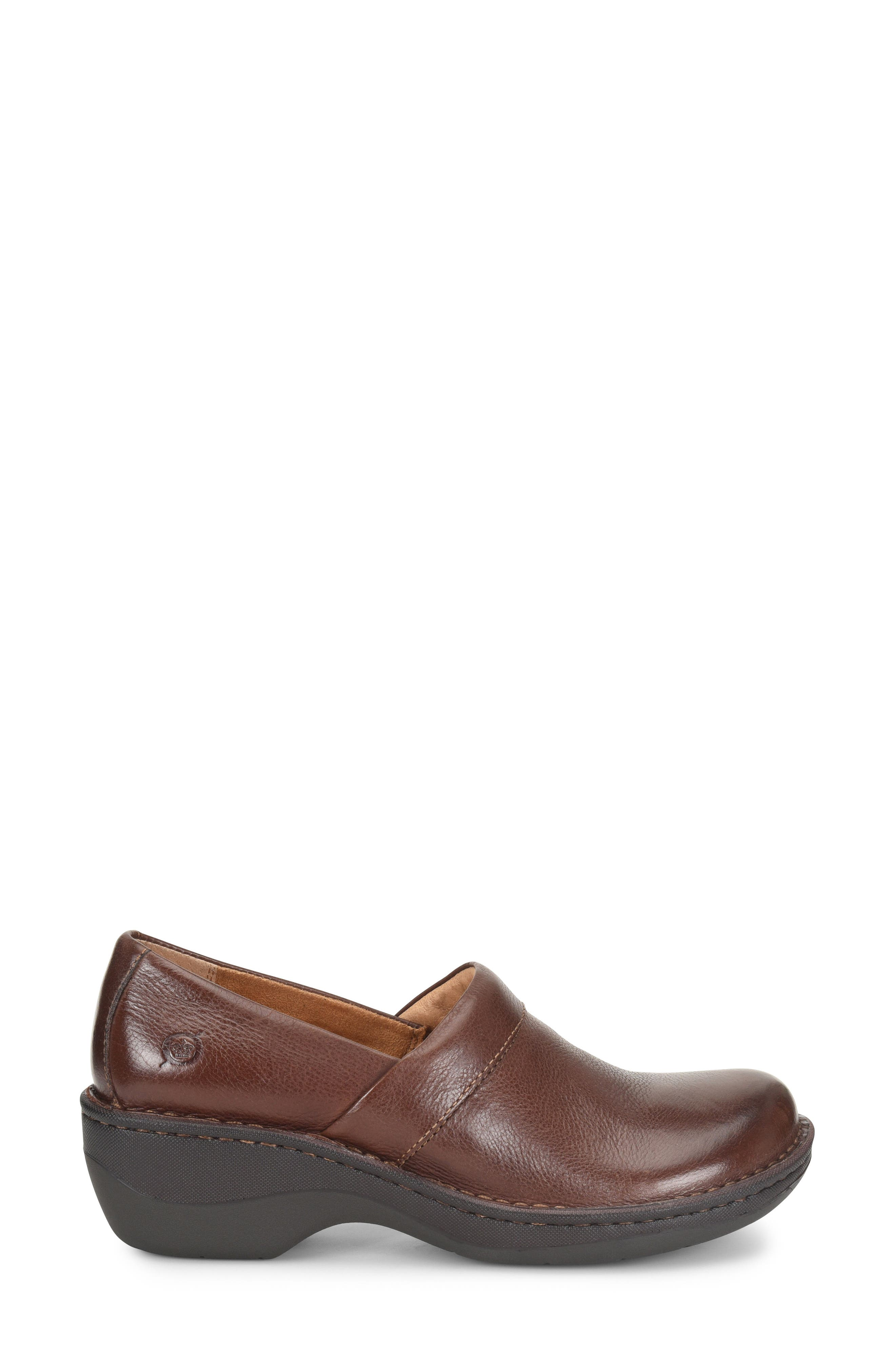Toby Duo Clog,                             Alternate thumbnail 3, color,                             Chocolate Leather