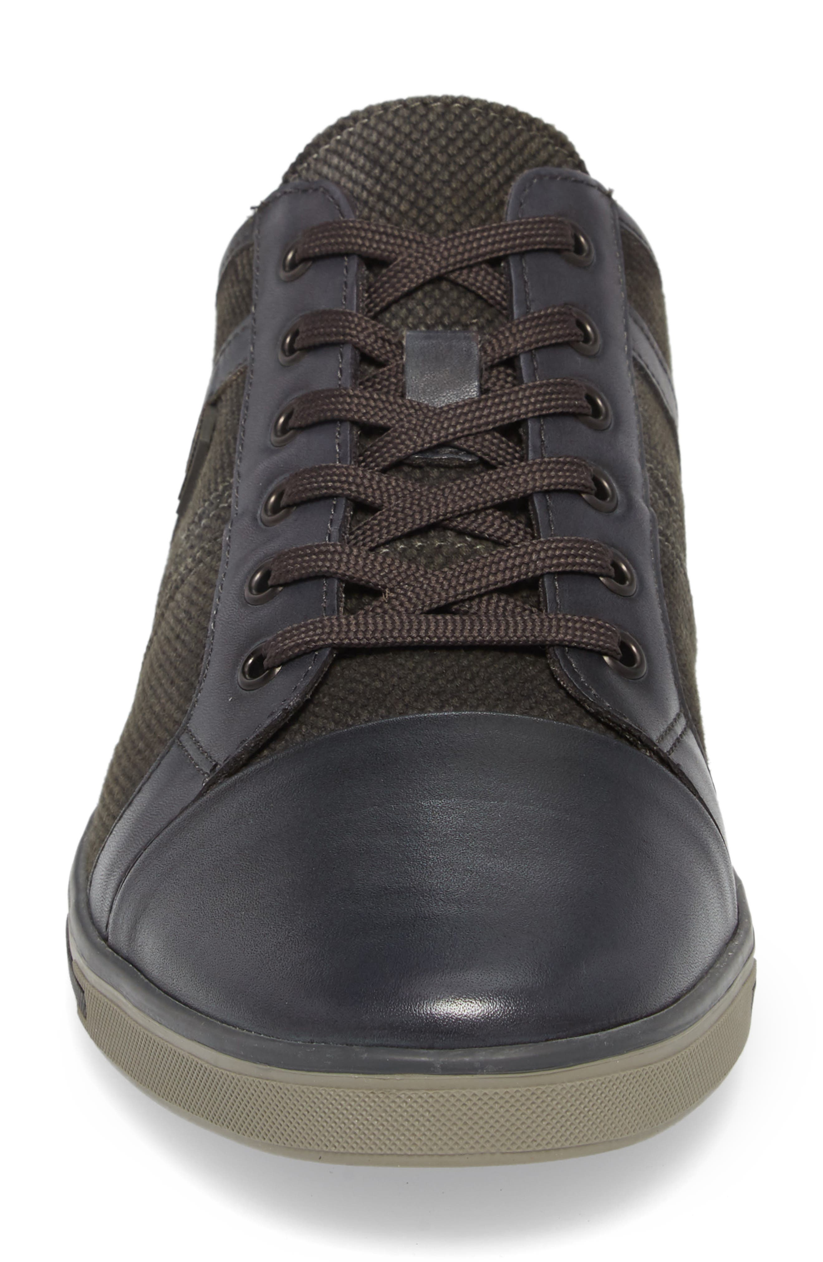 Initial Step Sneaker,                             Alternate thumbnail 4, color,                             Grey Leather/ Textile