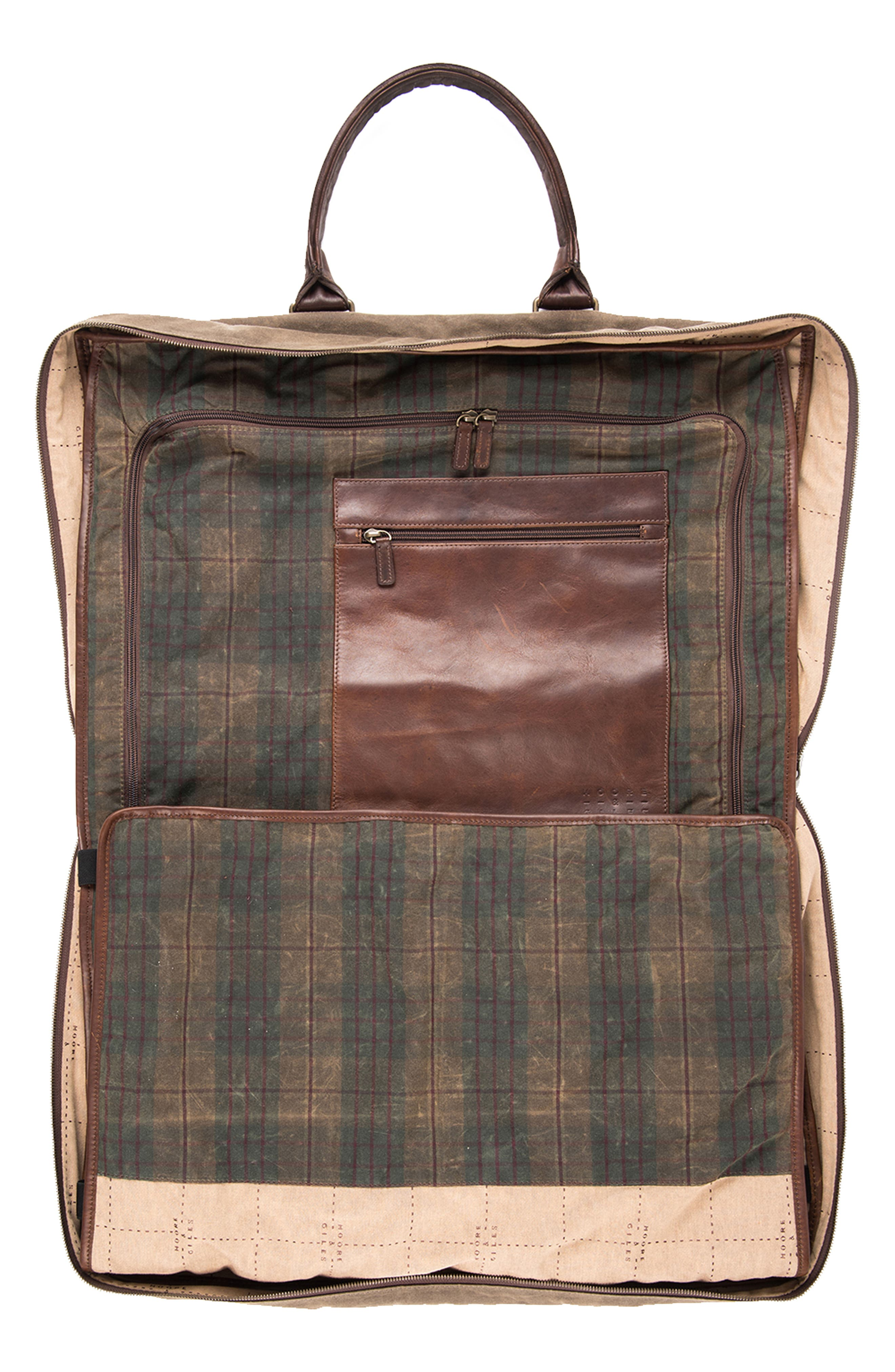 Tinsley Trifold Garment Bag,                             Alternate thumbnail 3, color,                             Baldwin Oak