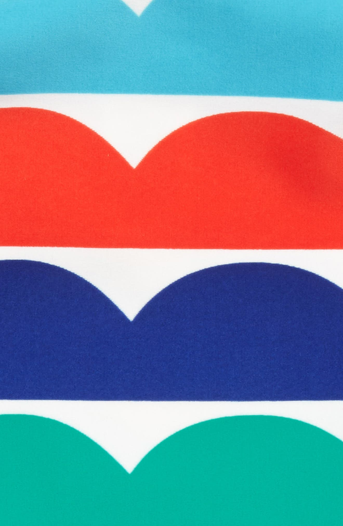 Two-Piece Tankini Swimsuit,                             Alternate thumbnail 2, color,                             Multi Rainbow Wave