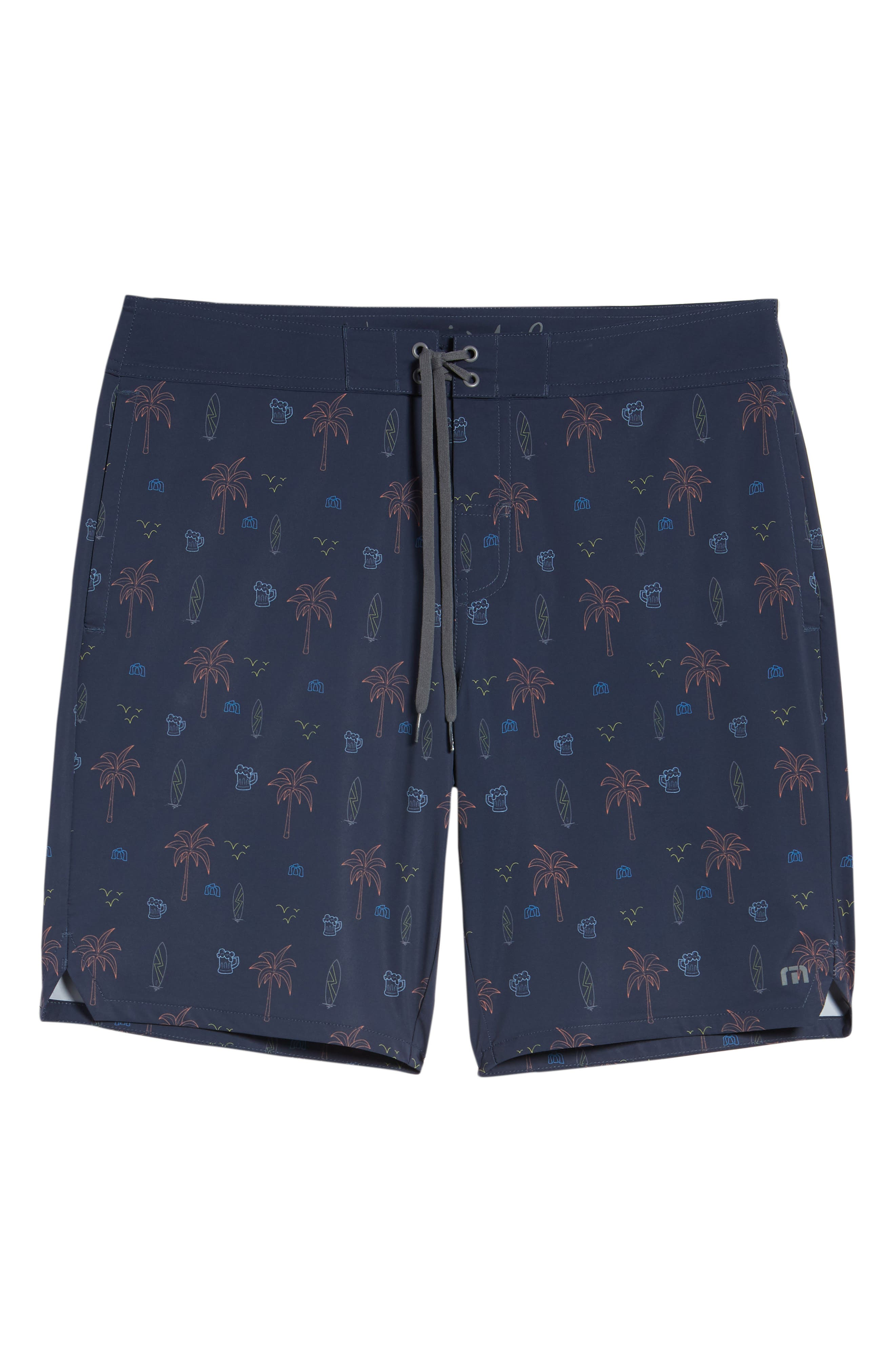 Safari Regular Fit Board Shorts,                             Alternate thumbnail 6, color,                             Blue Nights