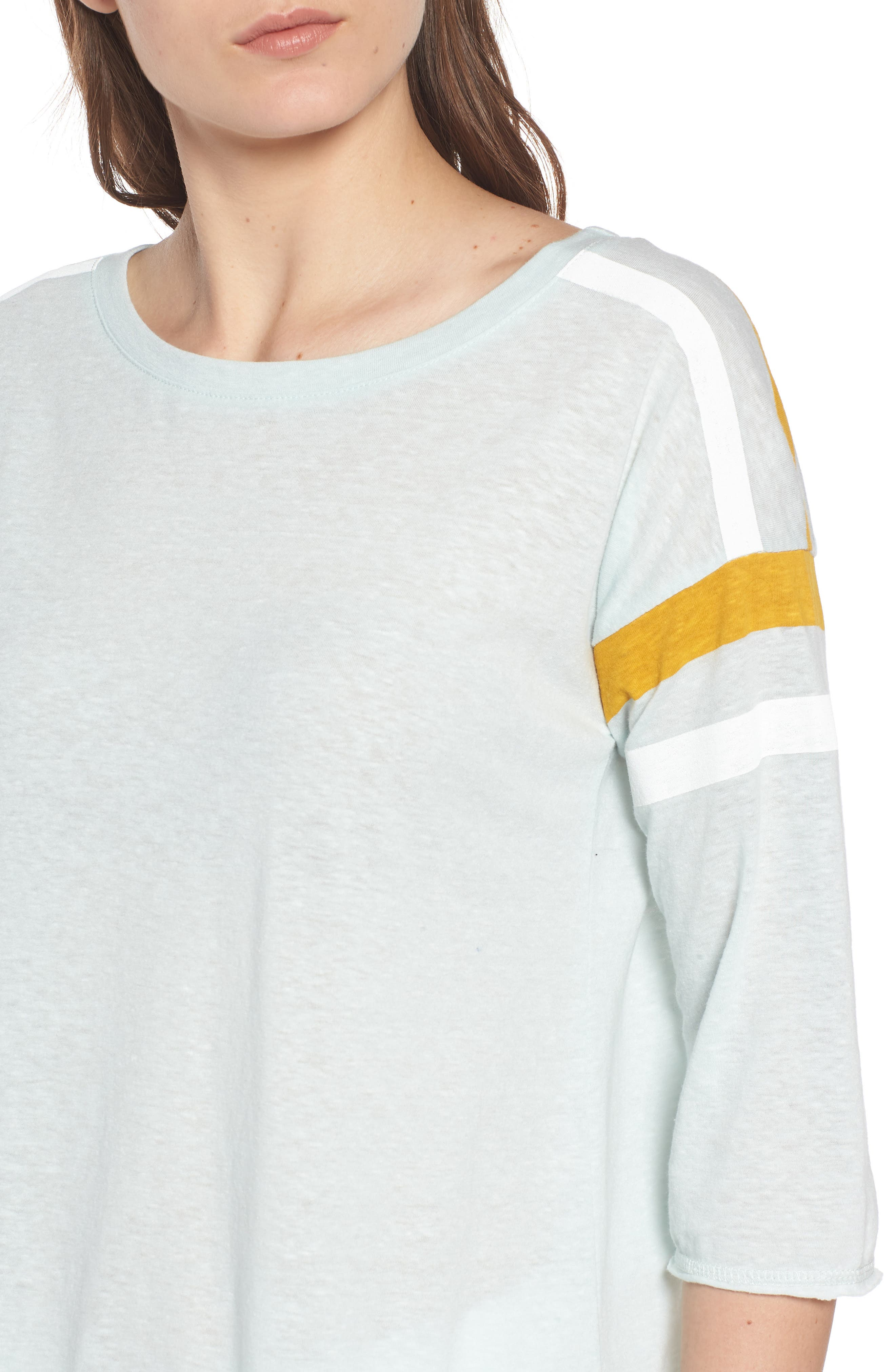 Sporty Tee,                             Alternate thumbnail 4, color,                             Teal Surf Combo