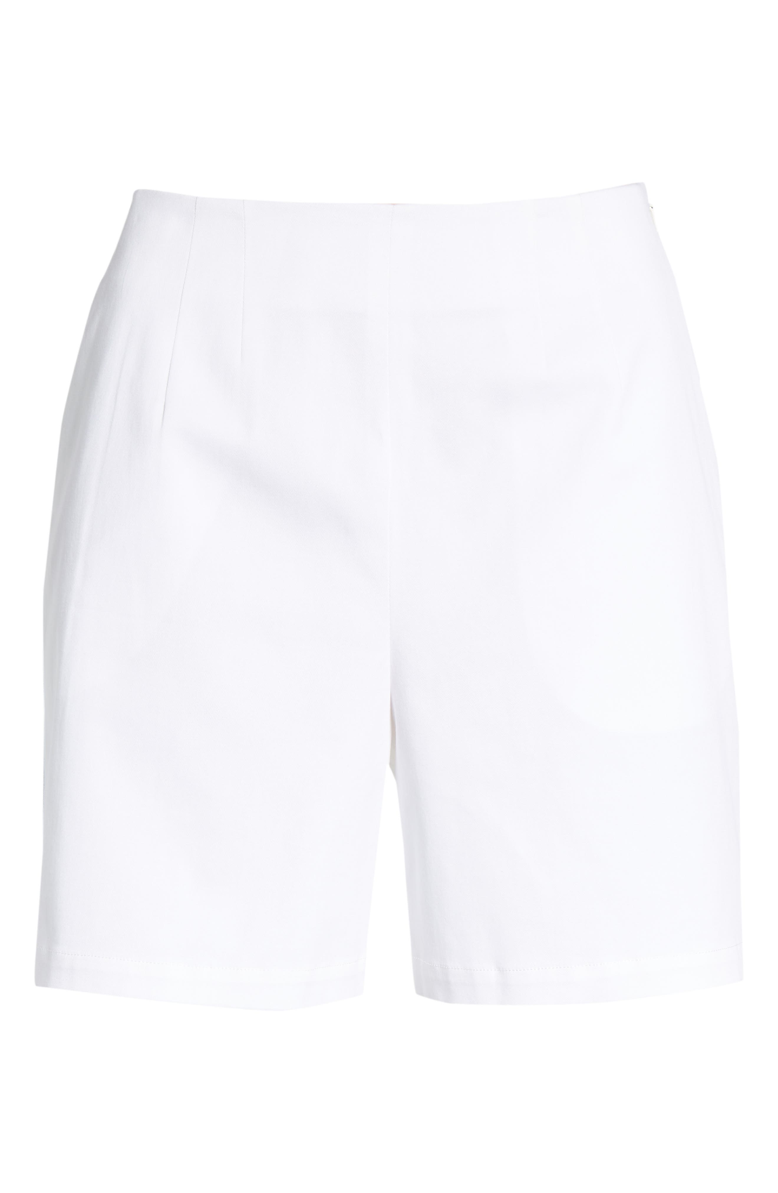 Clean Twill Shorts,                             Alternate thumbnail 4, color,                             White