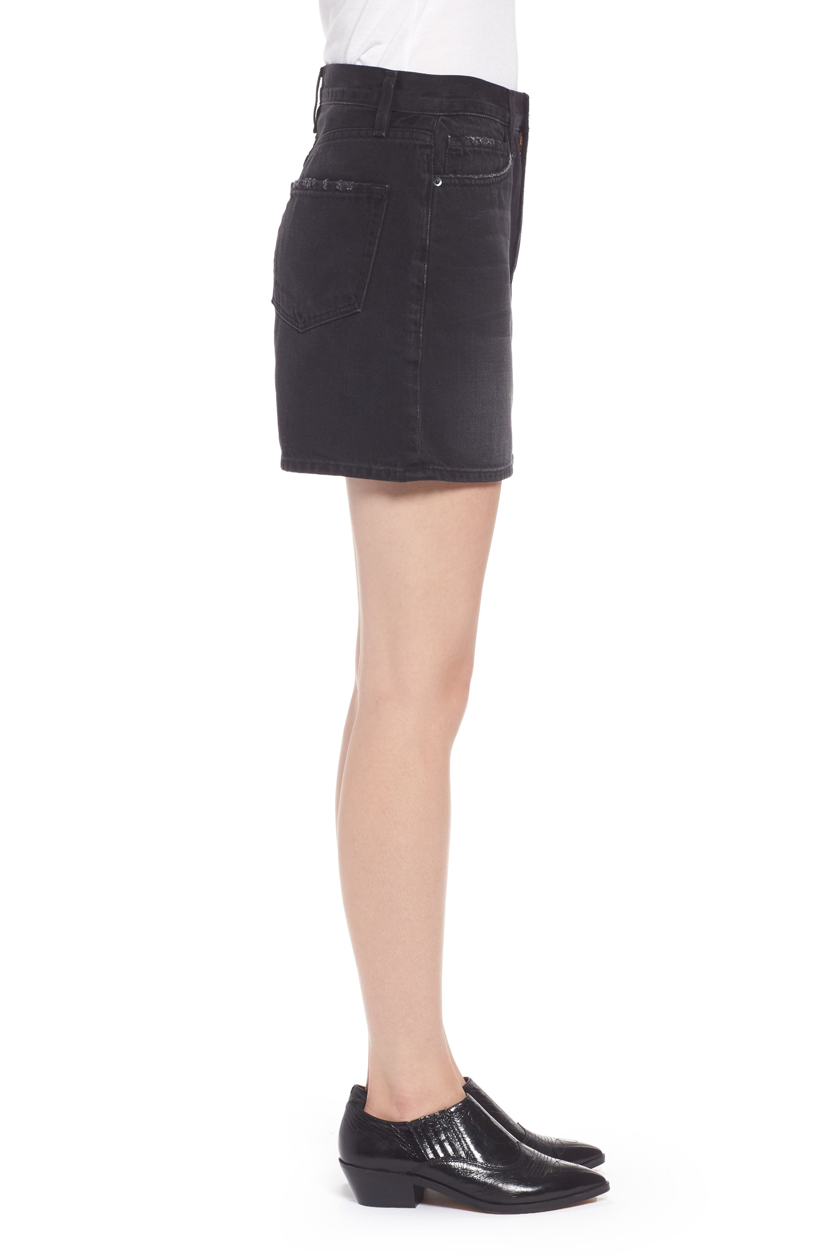 Le Mini Denim Skirt,                             Alternate thumbnail 3, color,                             Conwell
