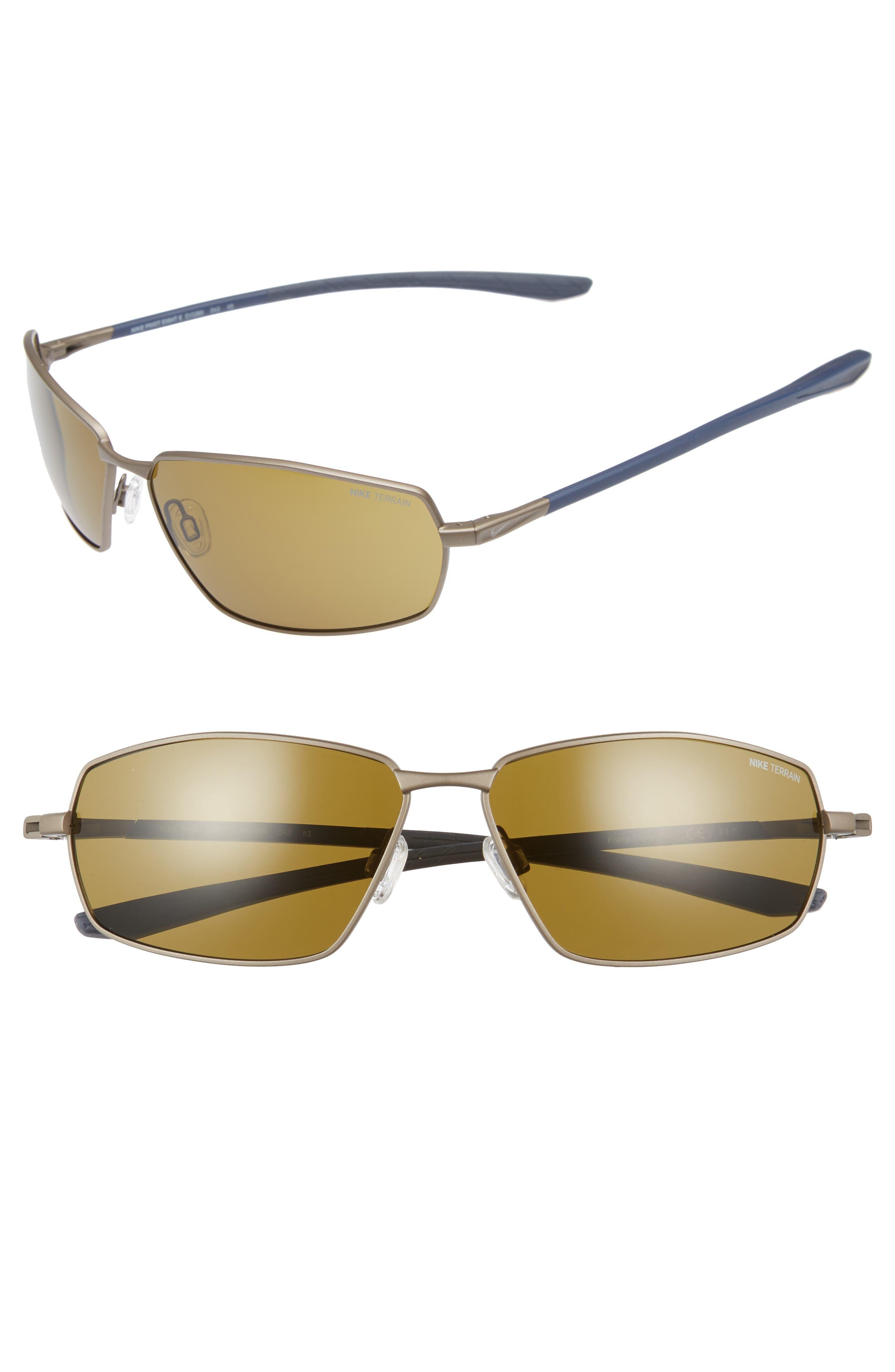 Pivot Eight E 62mm Oversize Sunglasses,                             Main thumbnail 1, color,                             Satin Pewter/ Terrain Tint