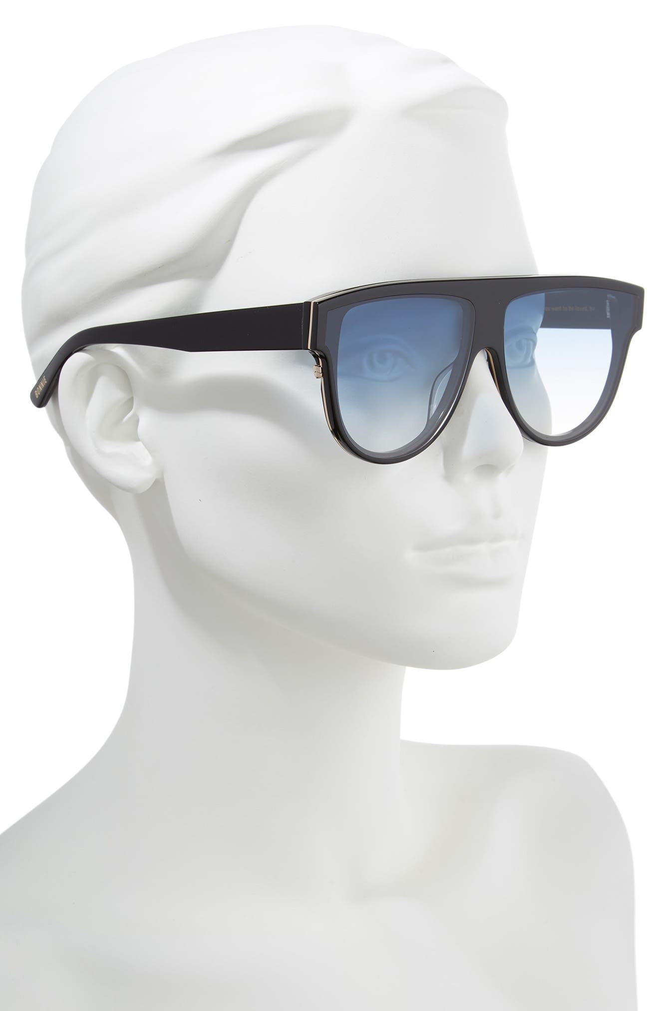 Continuum 63mm Oversize Flat Top Sunglasses,                             Alternate thumbnail 2, color,                             Blue Gradient