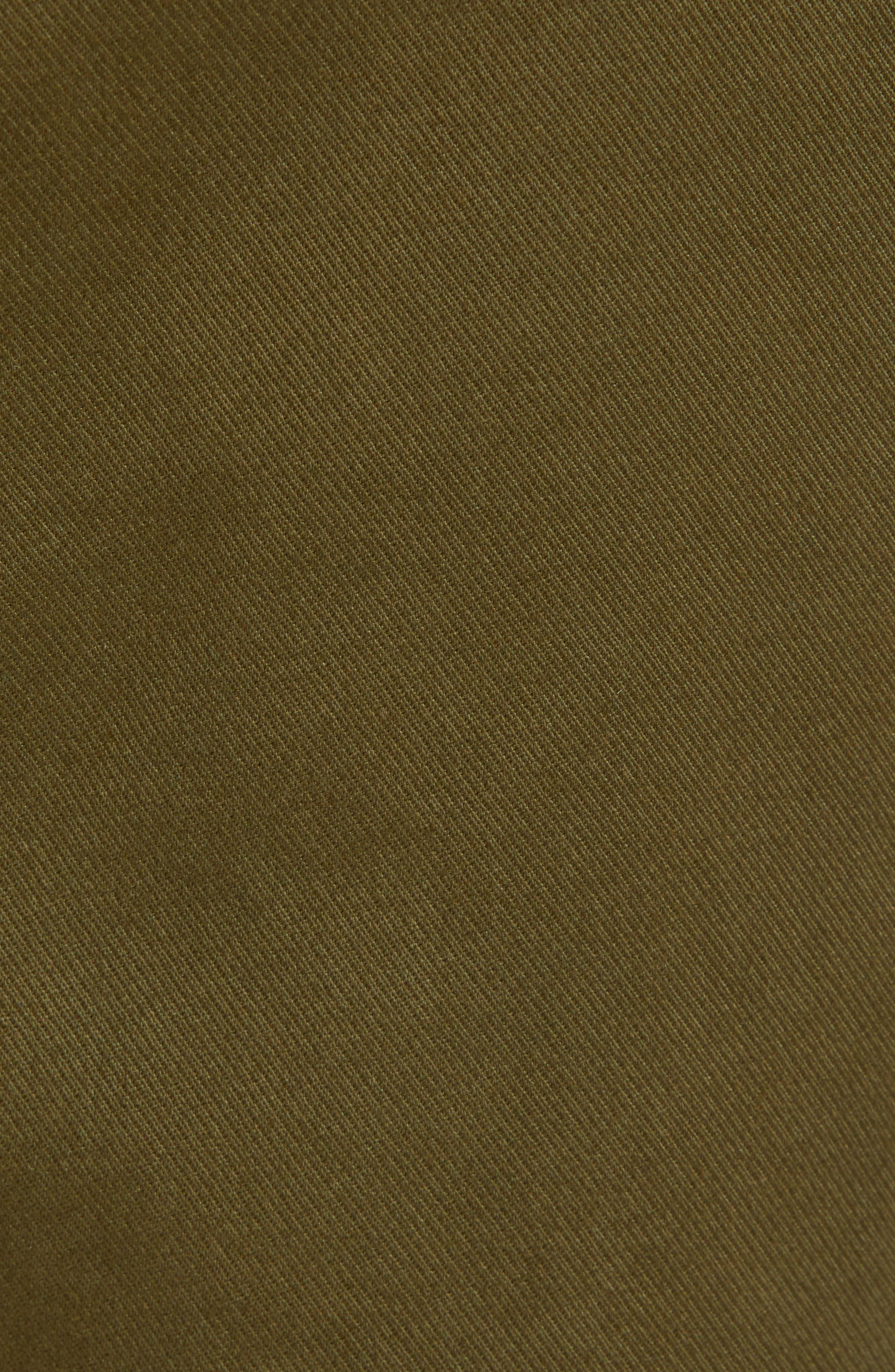 Hudson Leo Drop Crotch Pants,                             Alternate thumbnail 4, color,                             Olive