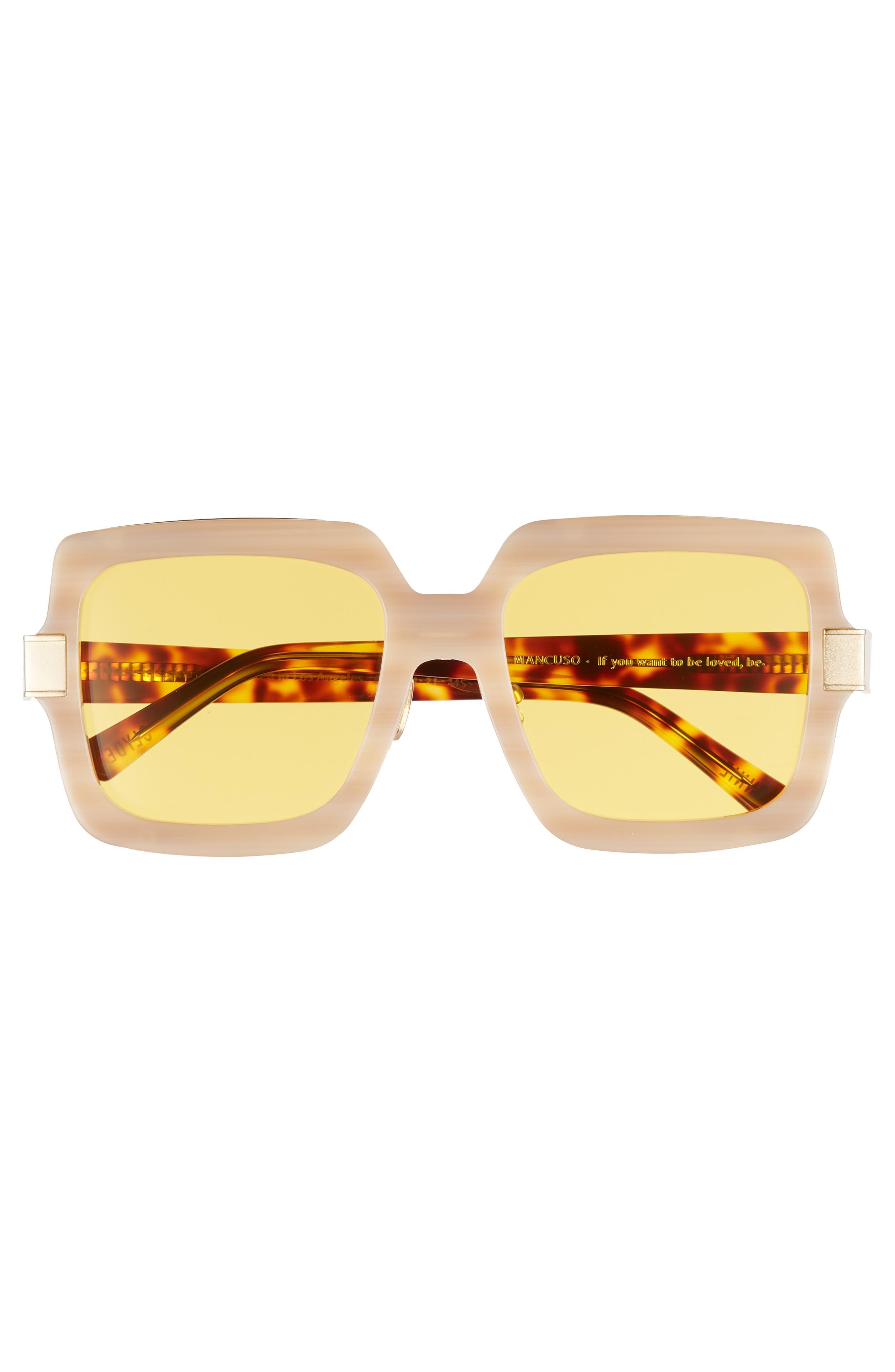Mancuso 54mm Sunglasses,                             Alternate thumbnail 3, color,                             Red Elm/ Yellow
