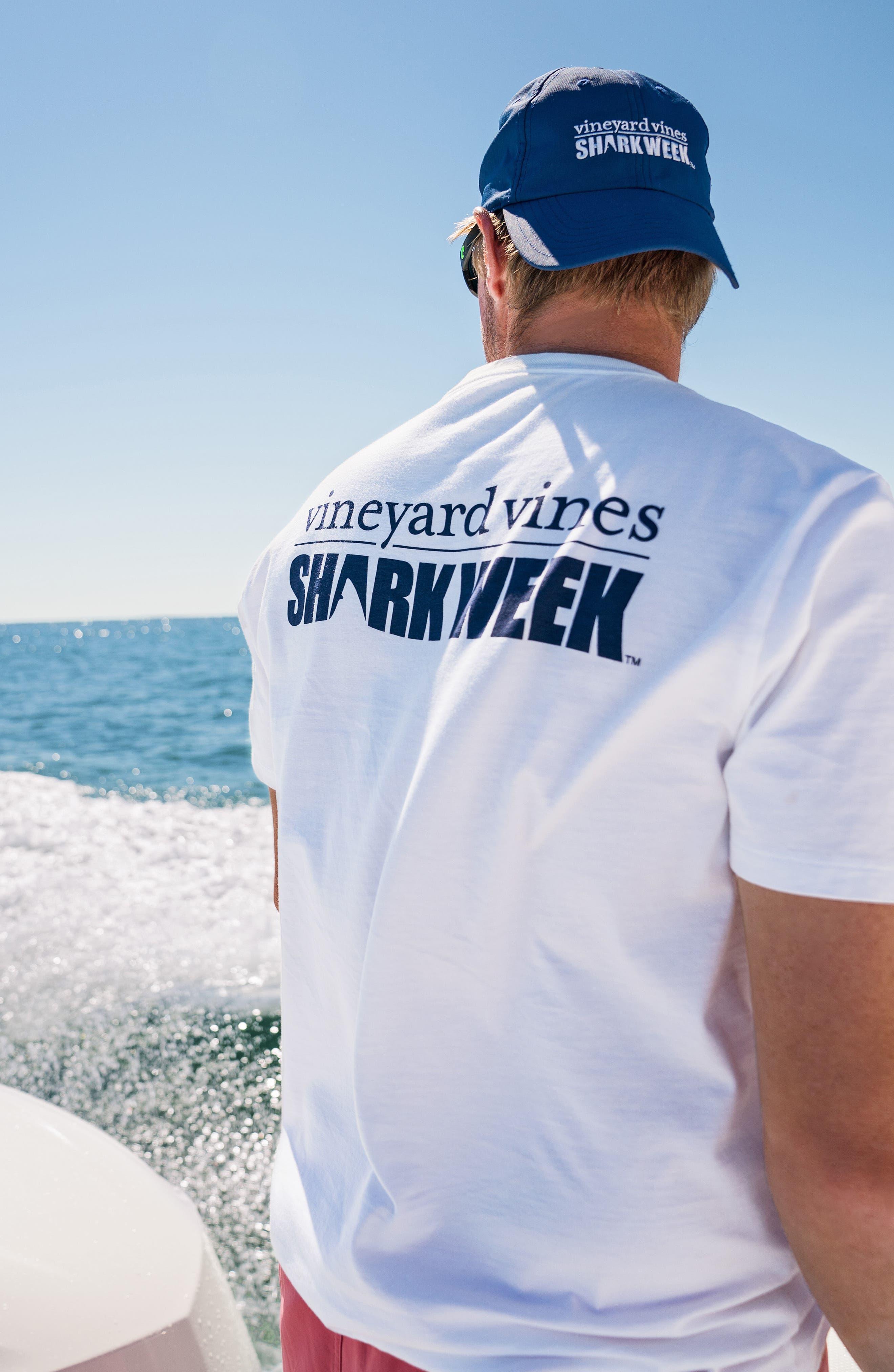 x Shark Week<sup>™</sup> Logo Pocket T-Shirt,                             Alternate thumbnail 7, color,                             White Cap