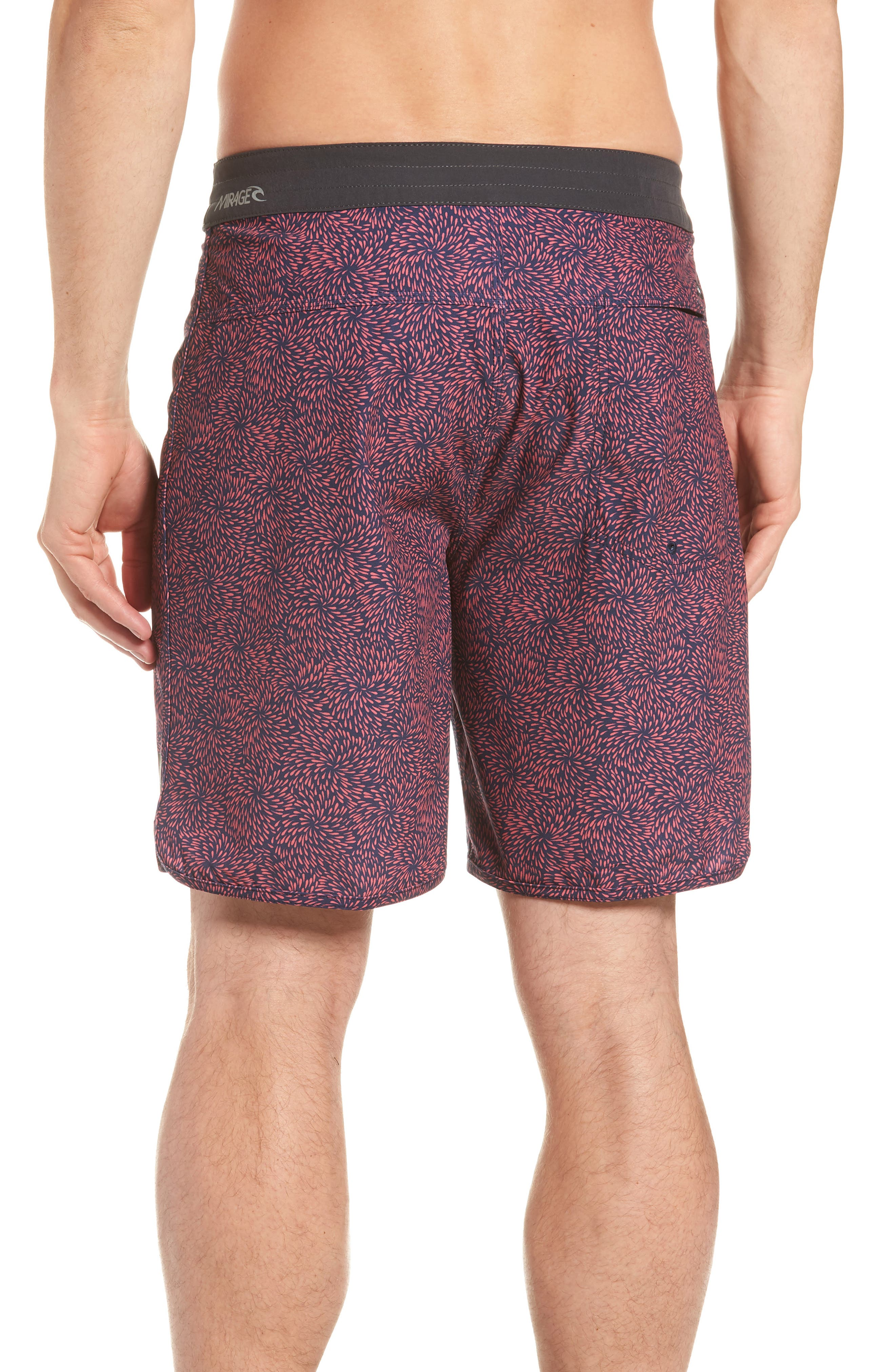 Mirage Conner Spin Out Board Shorts,                             Alternate thumbnail 2, color,                             Red