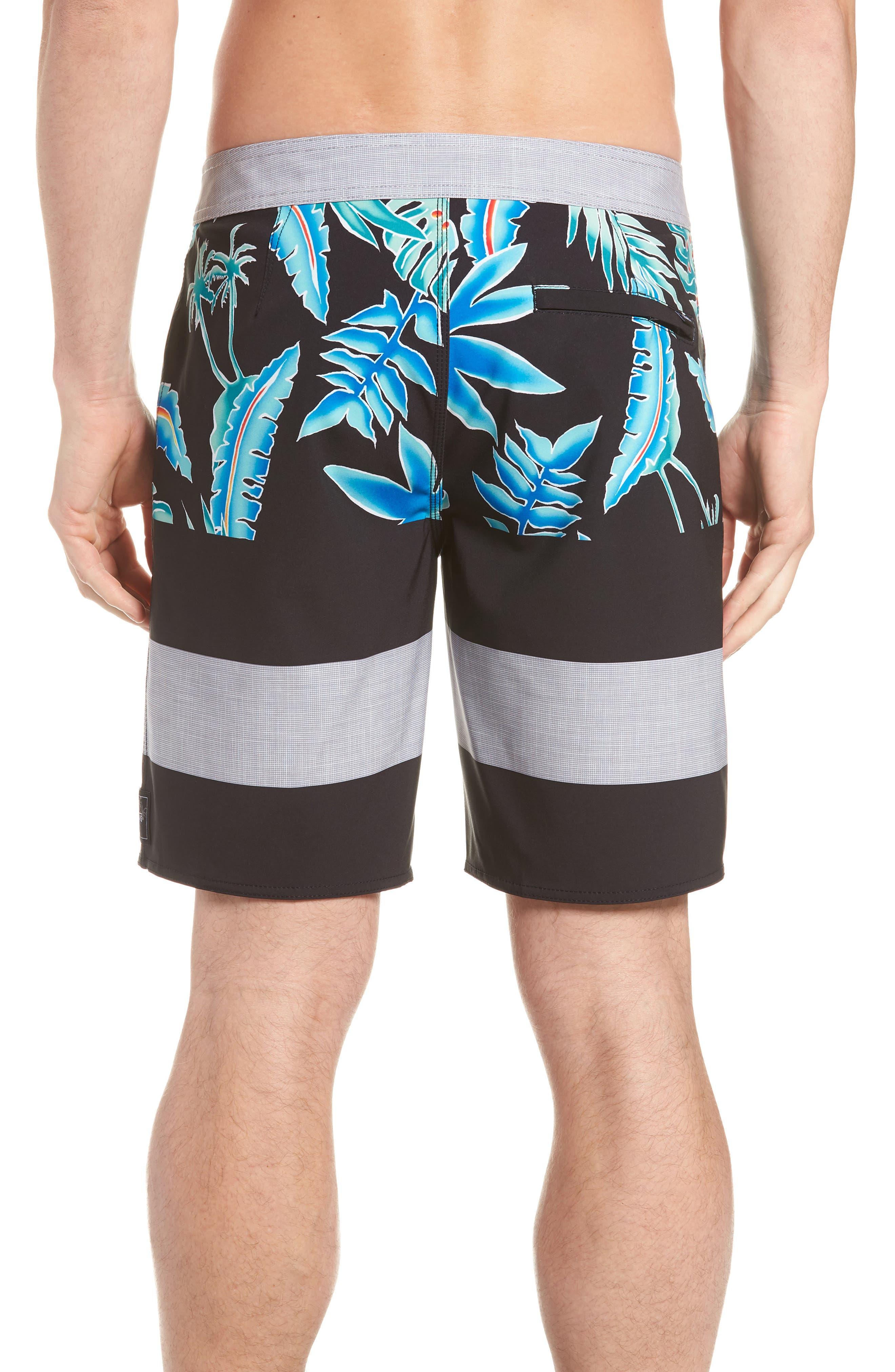 Era Board Shorts,                             Alternate thumbnail 2, color,                             Black Pit Stop Floral