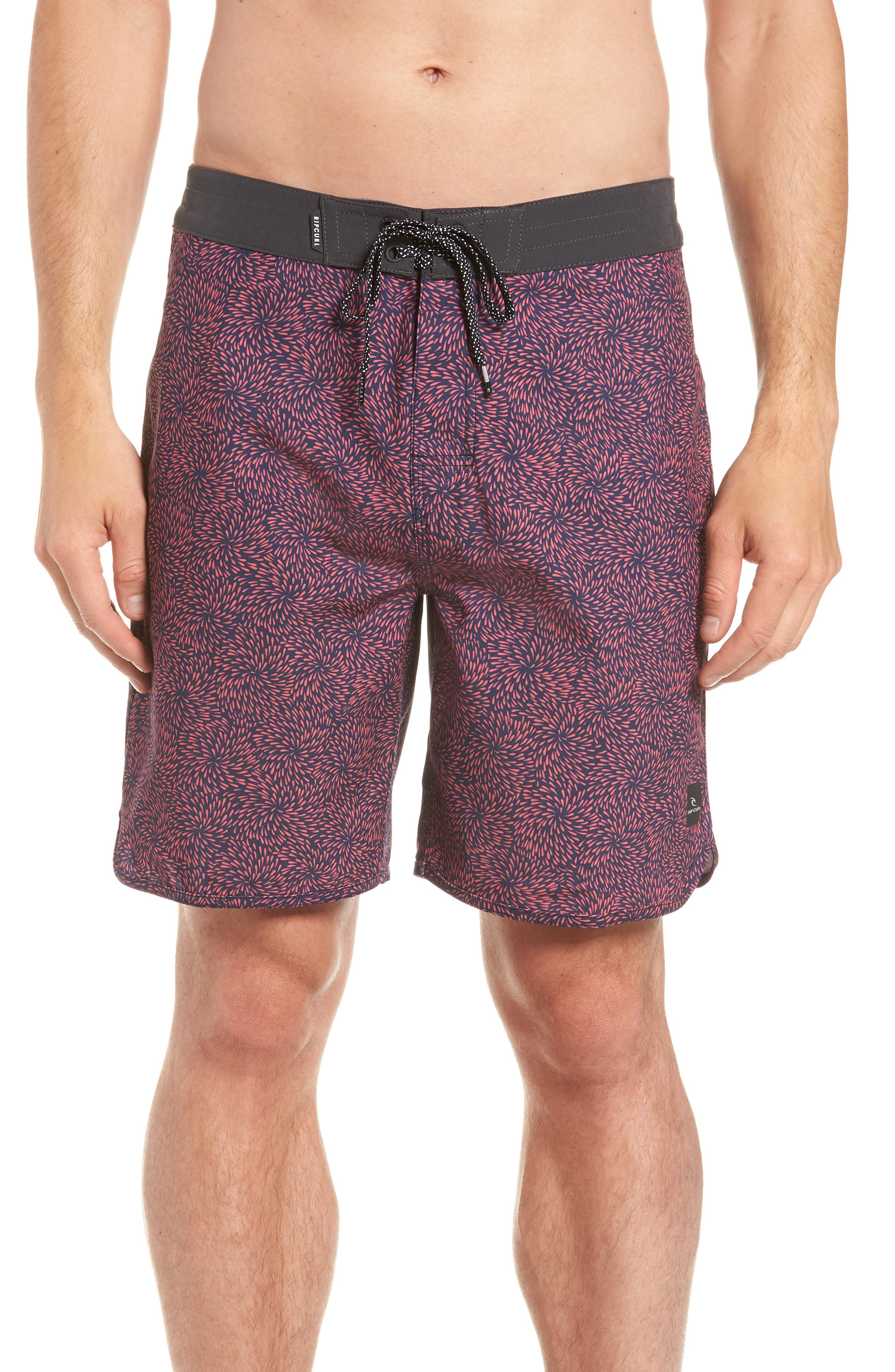 Mirage Conner Spin Out Board Shorts,                             Main thumbnail 1, color,                             Red