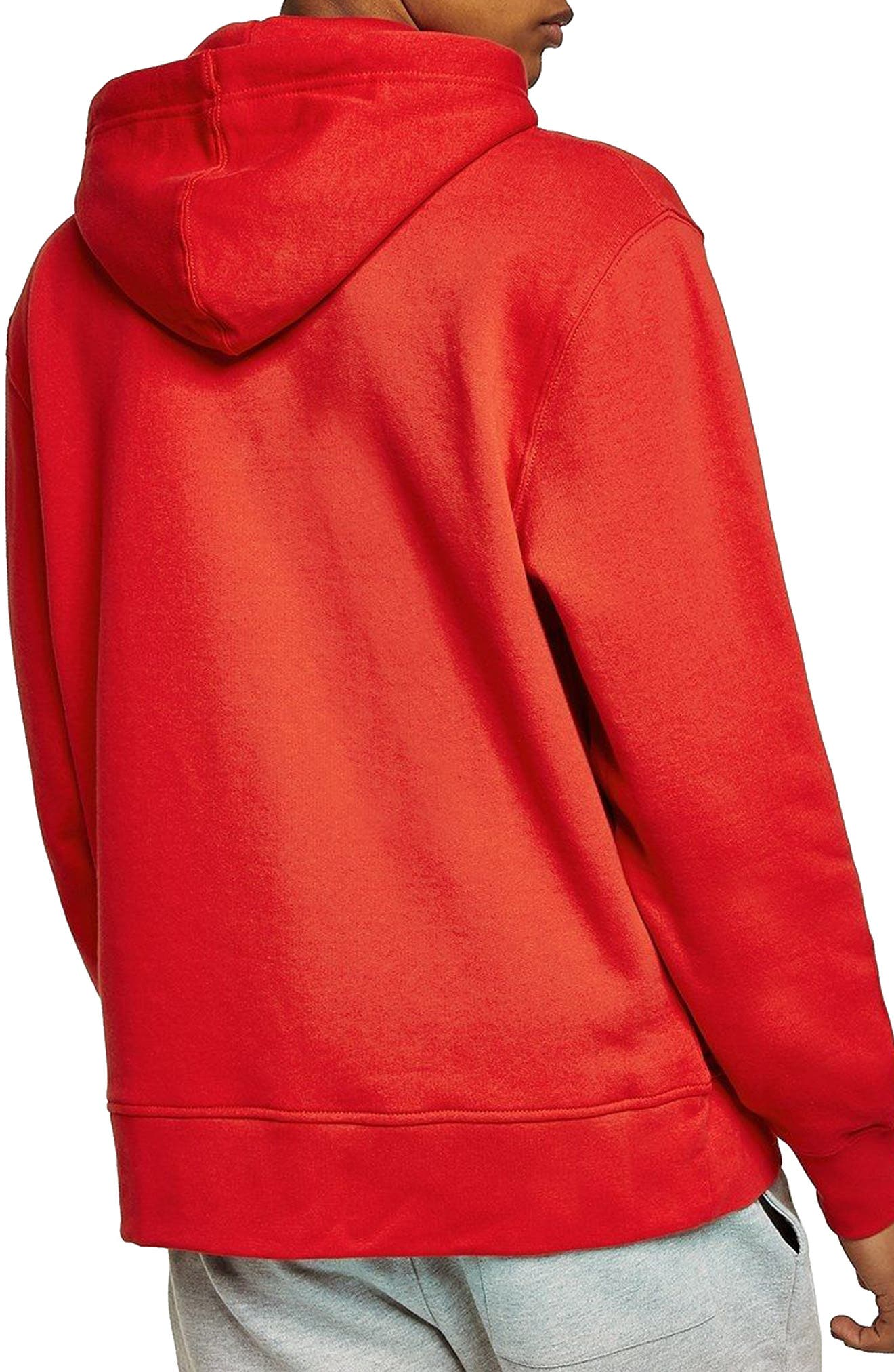 Classic Fit Tristan Thanks Embroidered Hoodie,                             Alternate thumbnail 2, color,                             Red Multi