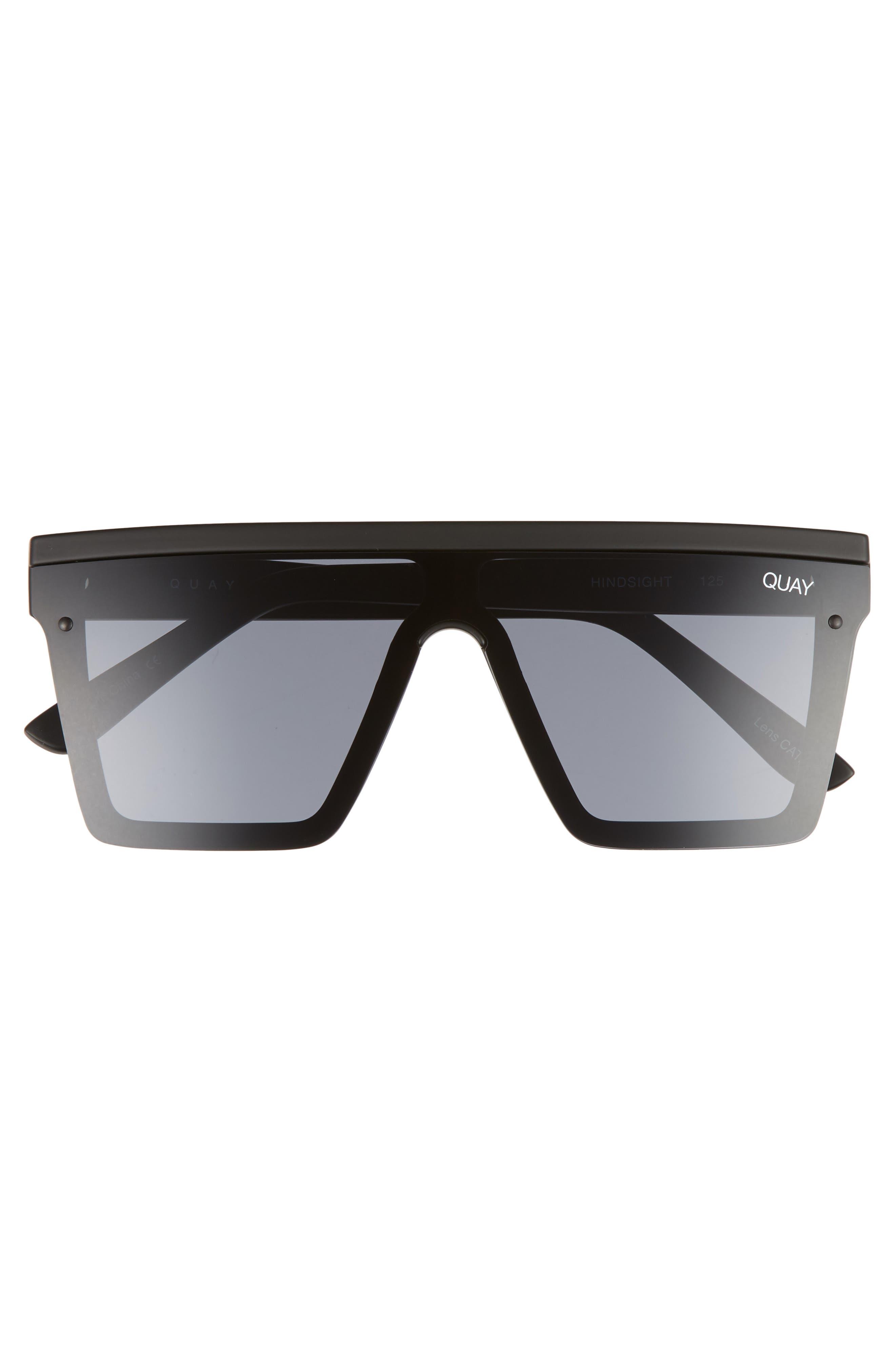 Hindsight 67mm Shield Sunglasses,                             Alternate thumbnail 4, color,                             Black/ Smoke