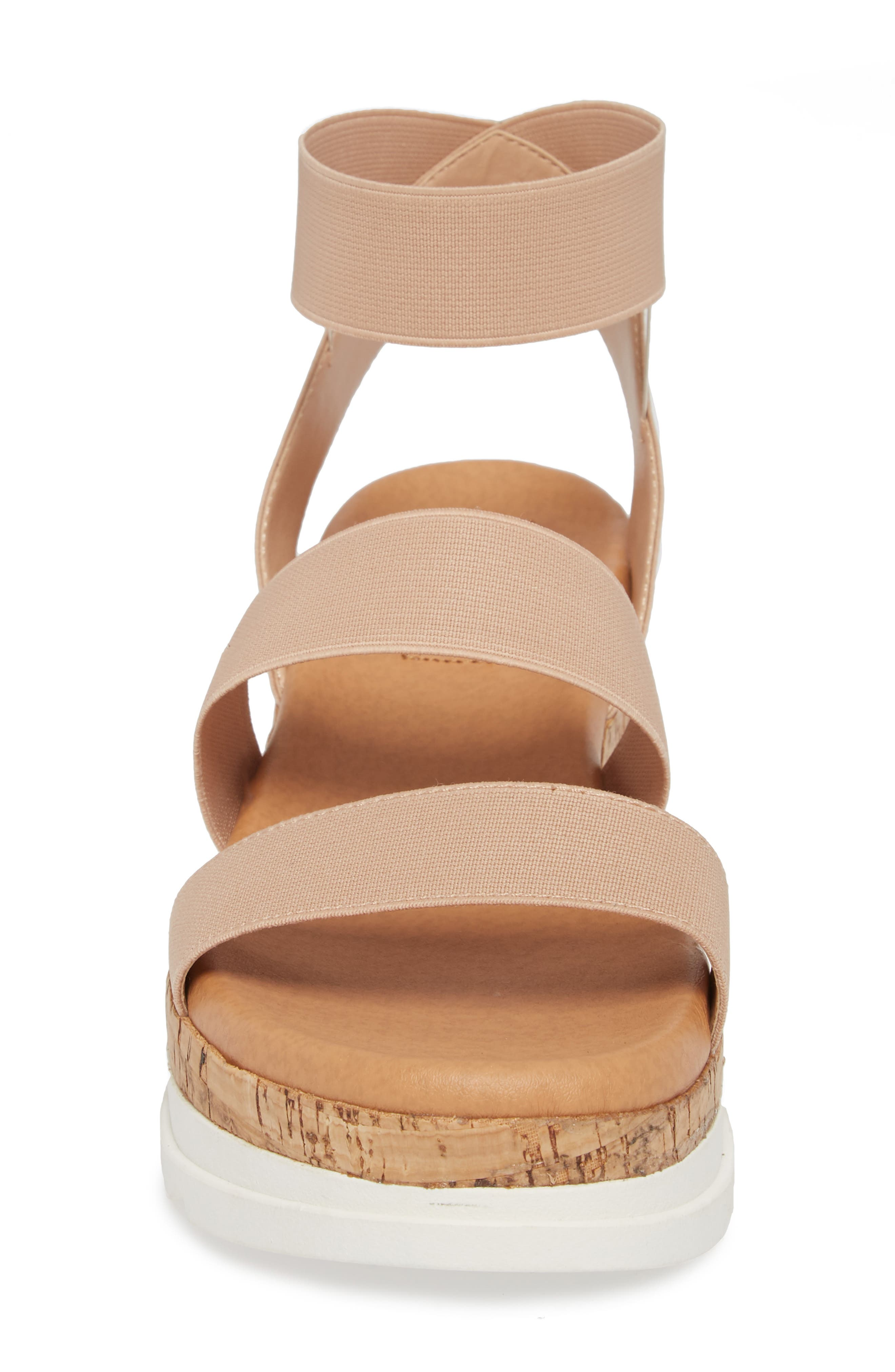 Bandi Platform Wedge Sandal,                             Alternate thumbnail 4, color,                             Blush