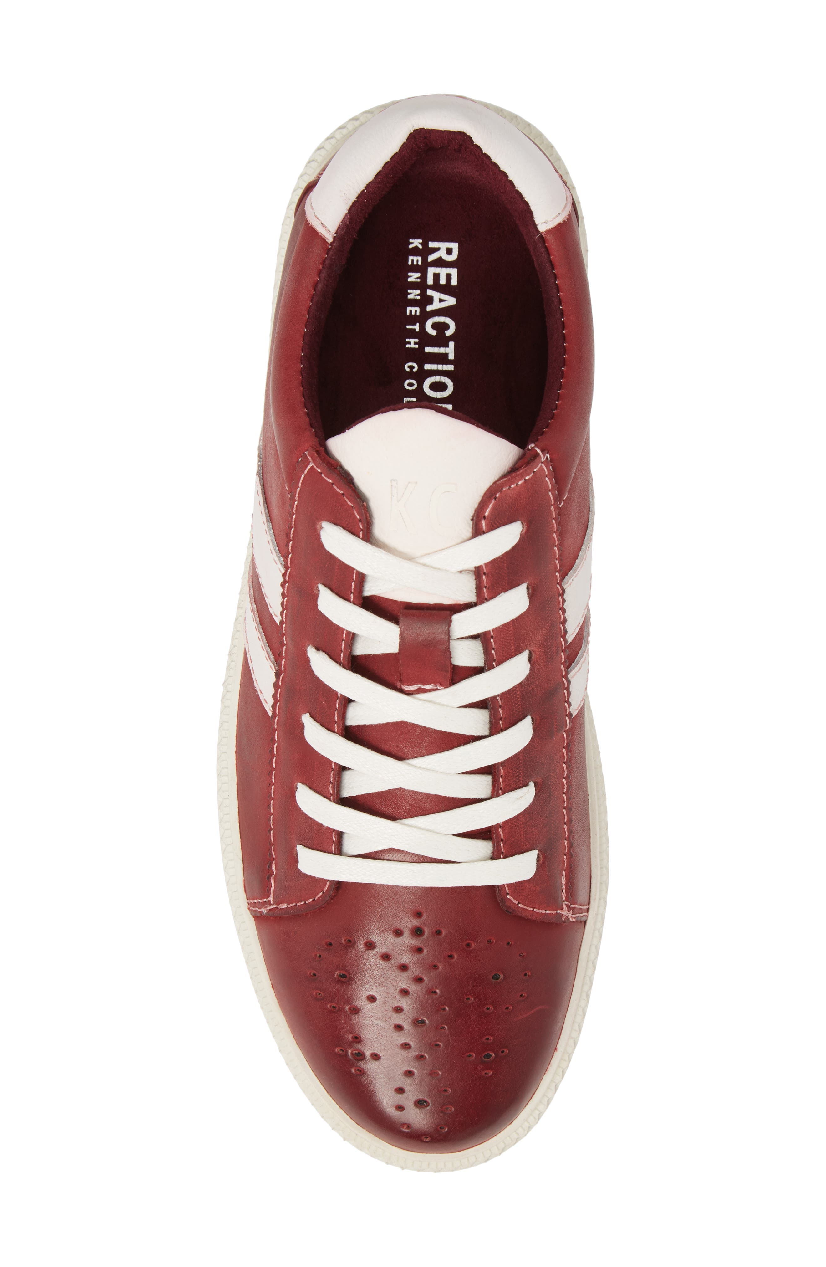 Madox Low Top Sneaker,                             Alternate thumbnail 5, color,                             Red