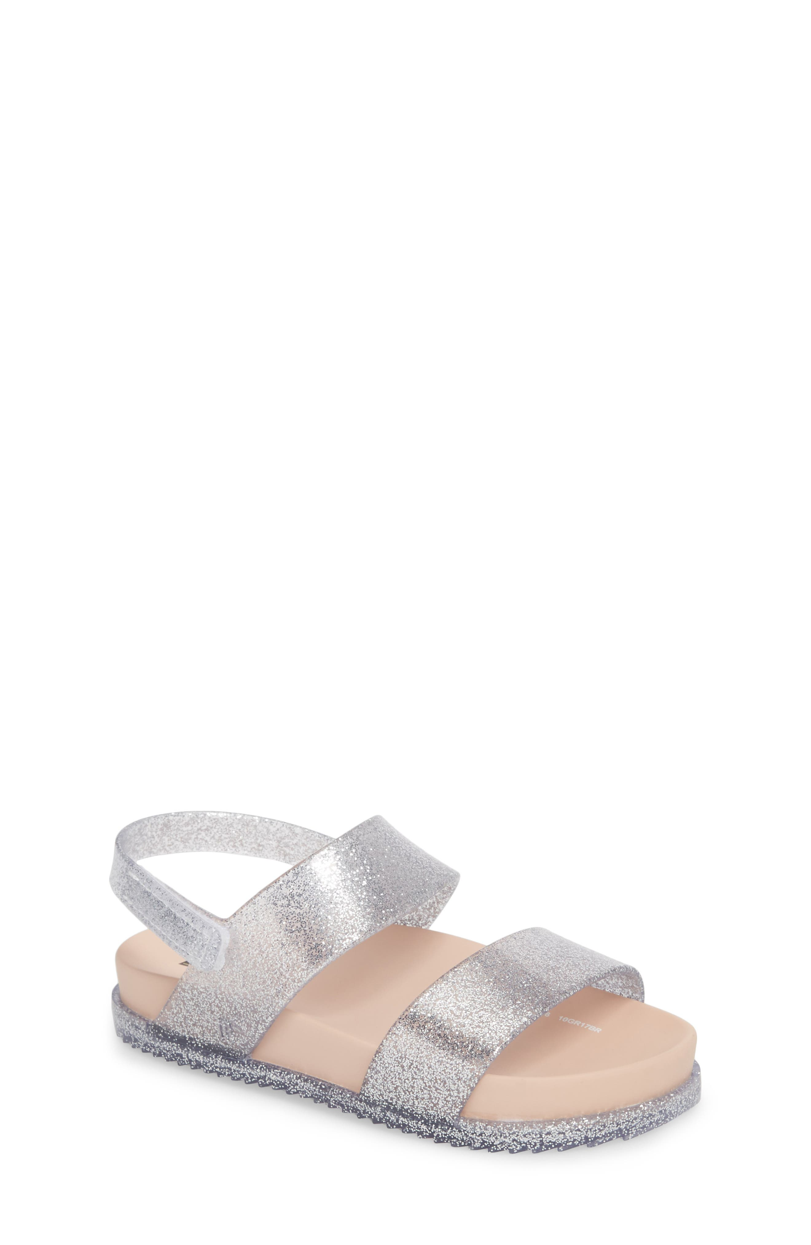 Glittery Cosmic Sandal,                             Main thumbnail 1, color,                             Pink Silver Sparkle