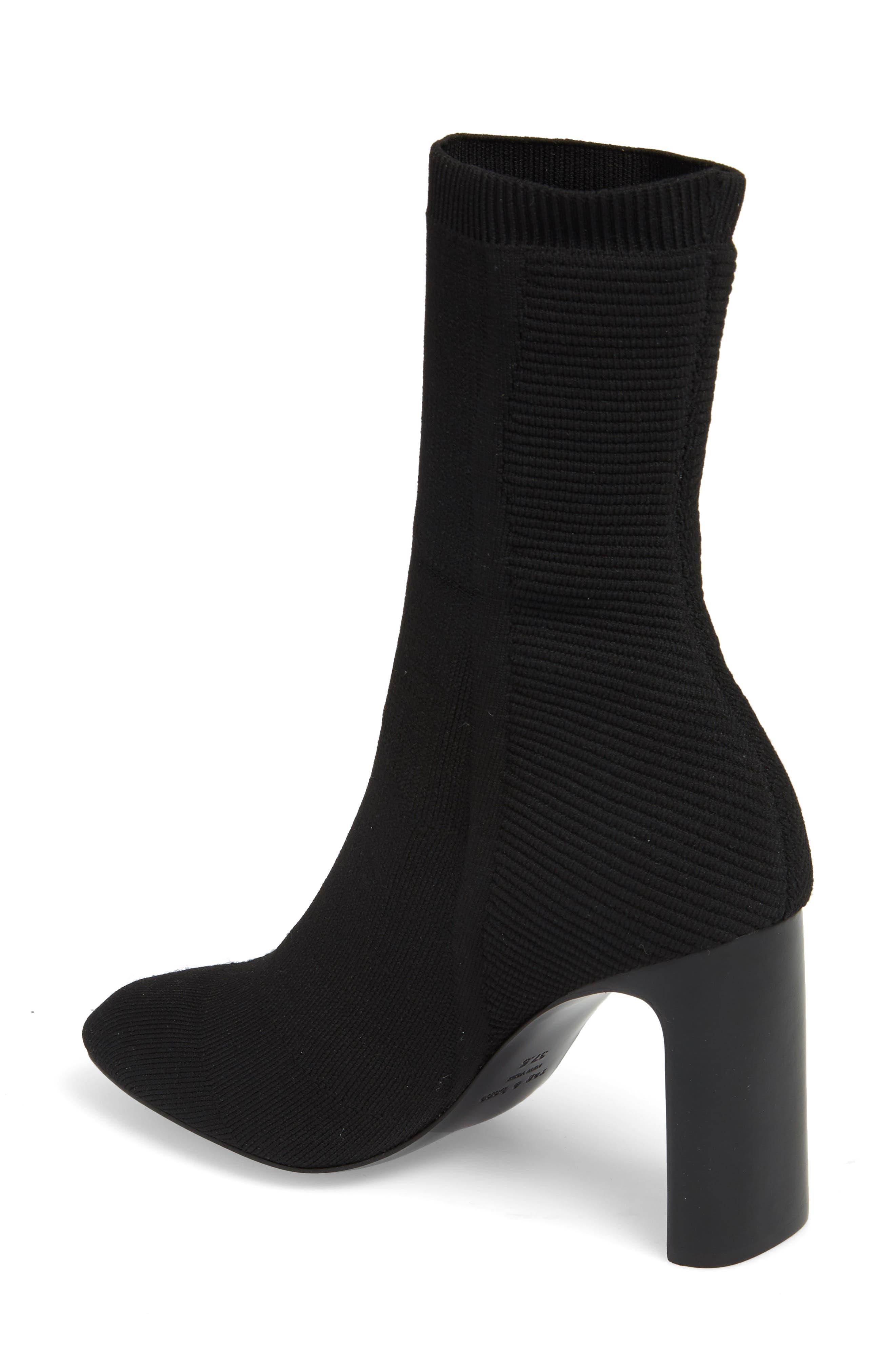 Ellis Sock Knit Boot,                             Alternate thumbnail 2, color,                             Black
