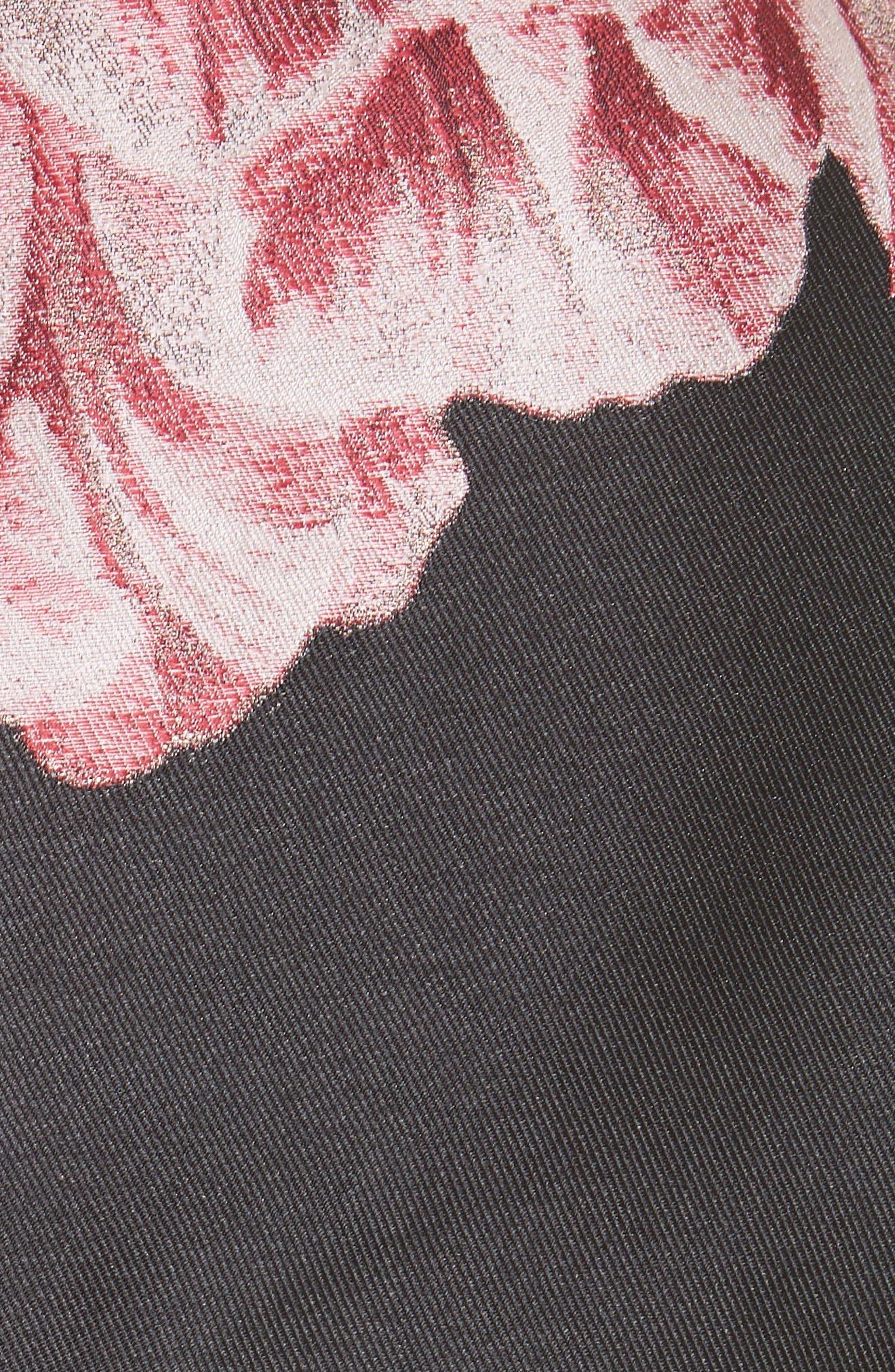 Eyvii Bay of Honour Asymmetrical Dress,                             Alternate thumbnail 5, color,                             Black