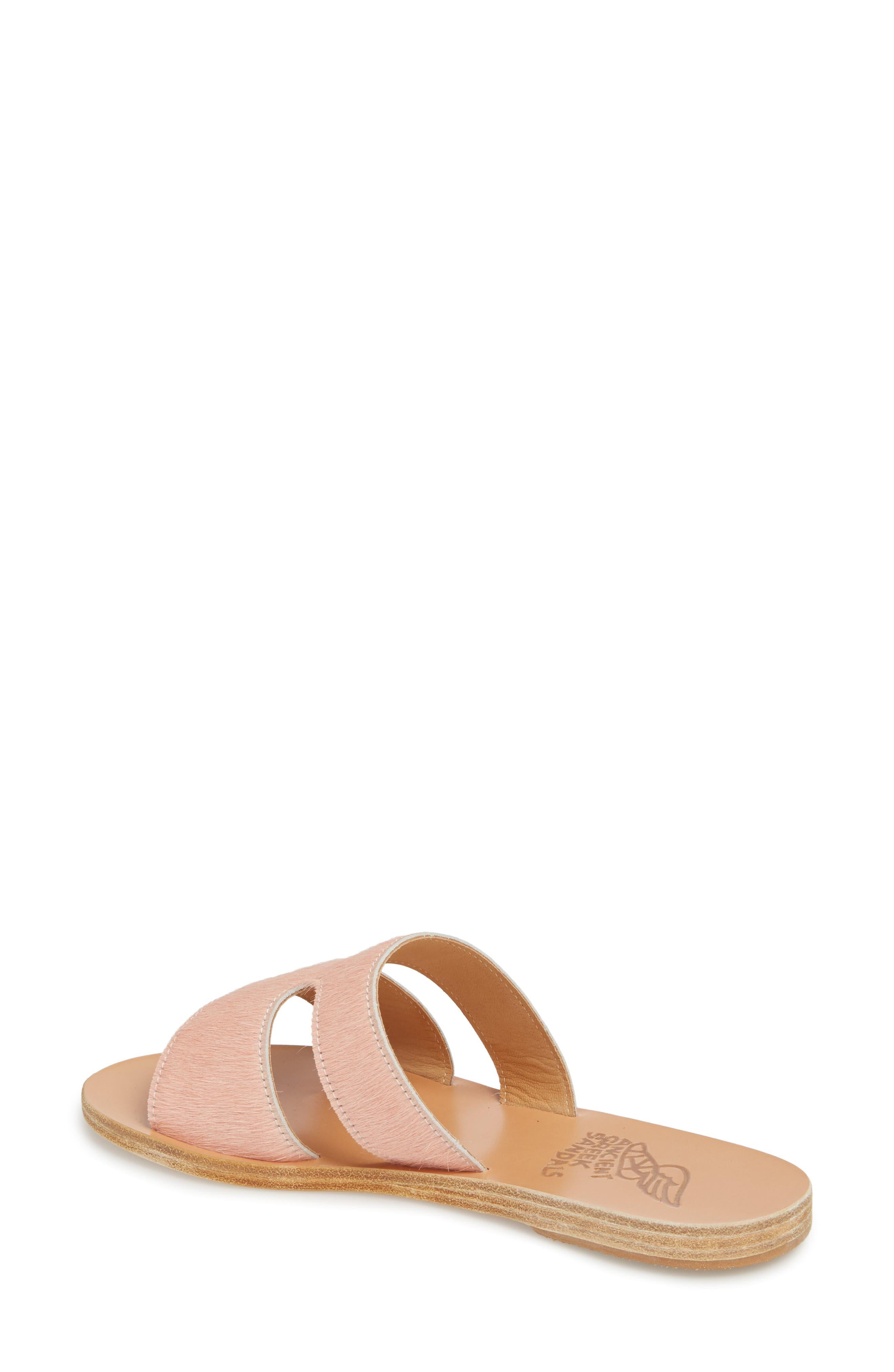 Apteros Genuine Calf Hair Slide Sandal,                             Alternate thumbnail 2, color,                             Pink Pony