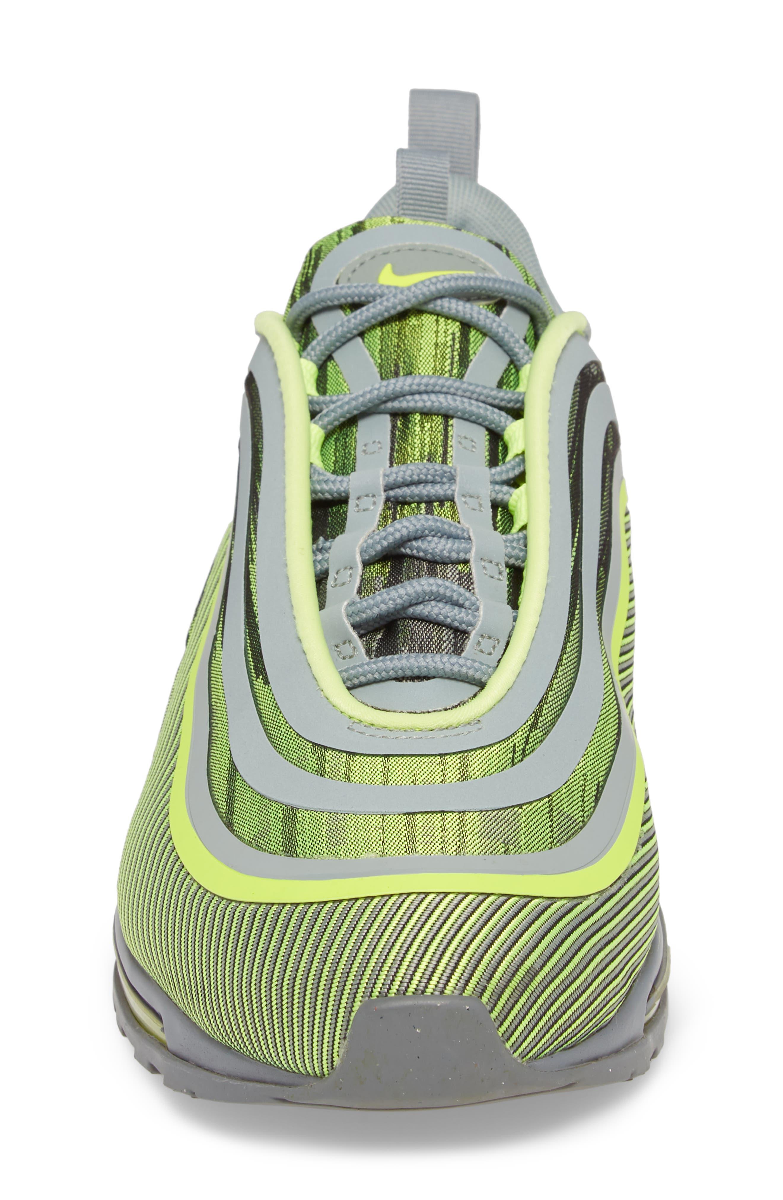 Air Max 97 Ultra '17 Sneaker,                             Alternate thumbnail 5, color,                             Volt/ Mica Green/ Cool Grey