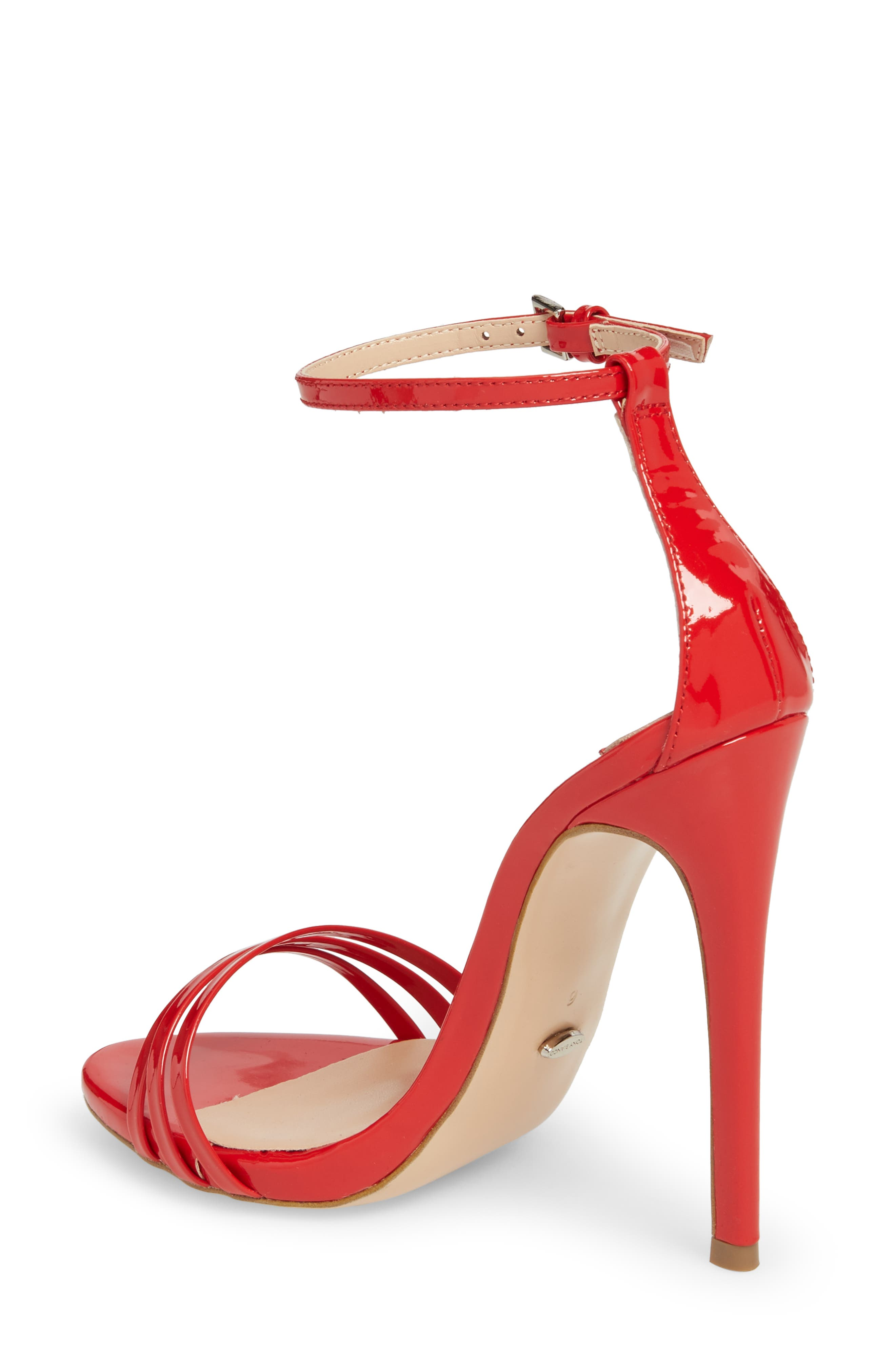 Aroma Strappy Sandal,                             Alternate thumbnail 2, color,                             Red Patent Leather