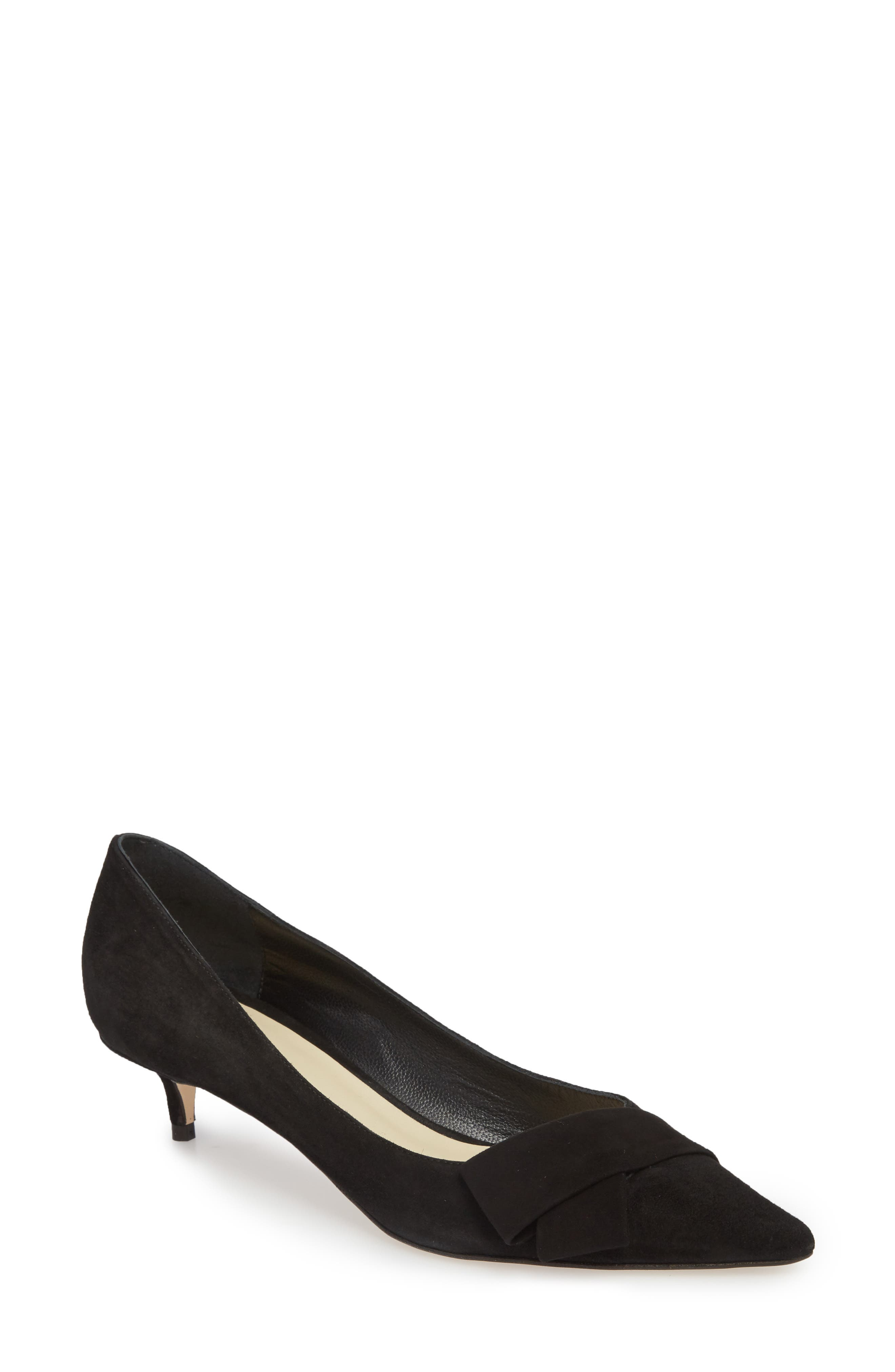 Butter Bliss Pointy Toe Pump,                             Main thumbnail 1, color,                             Black Suede