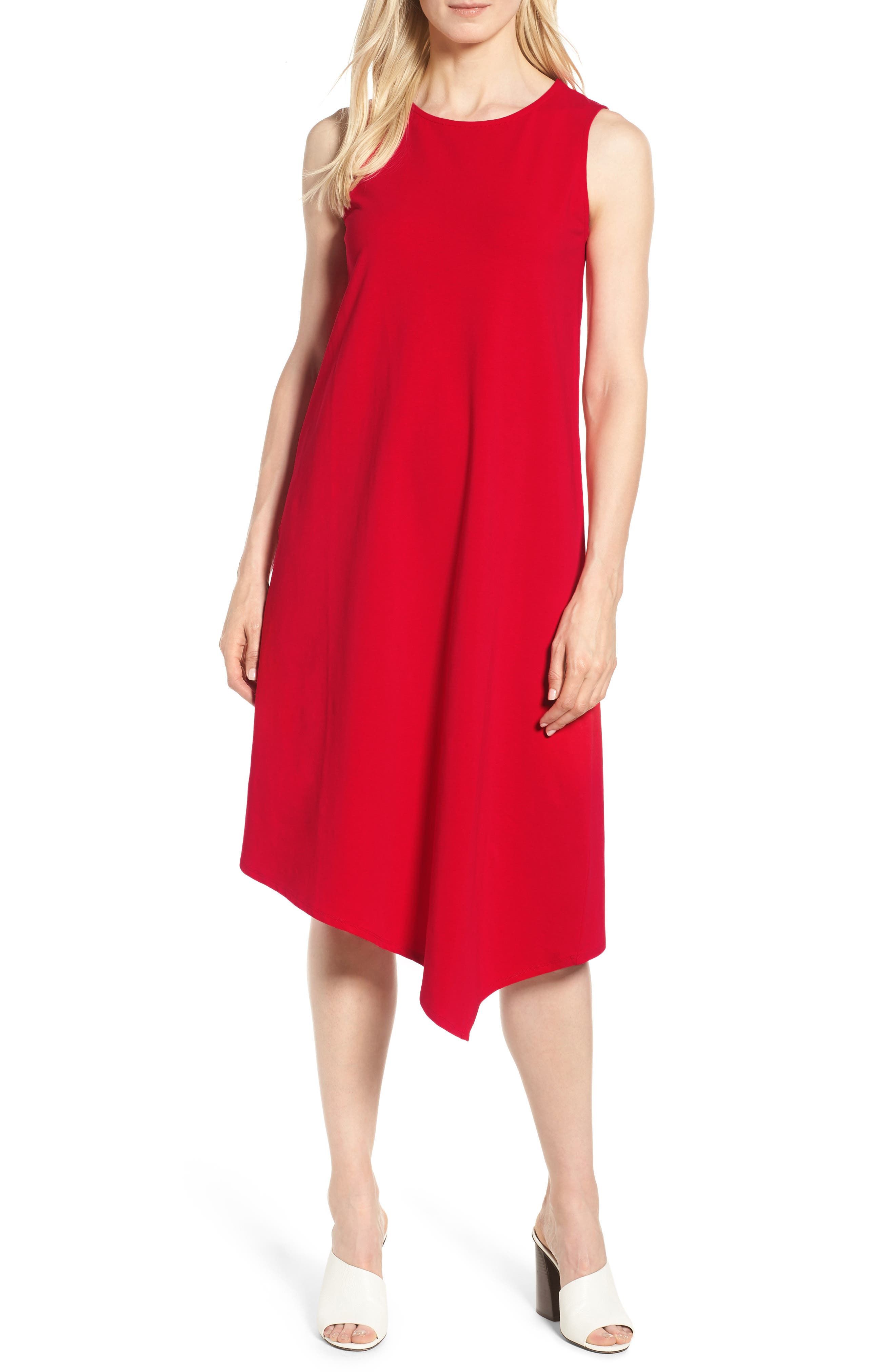 Sweet Escape Tank Dress,                             Main thumbnail 1, color,                             Red Sangria