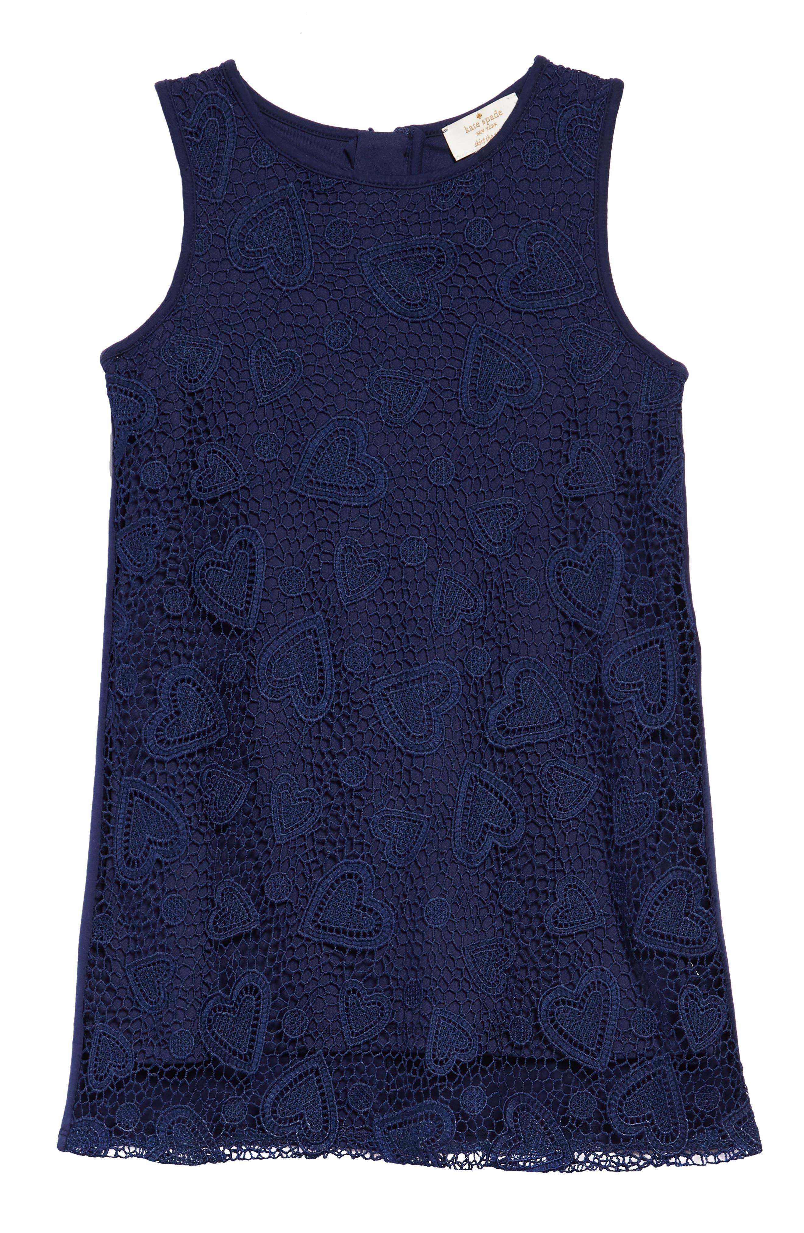 lace shift dress,                             Main thumbnail 1, color,                             New Navy