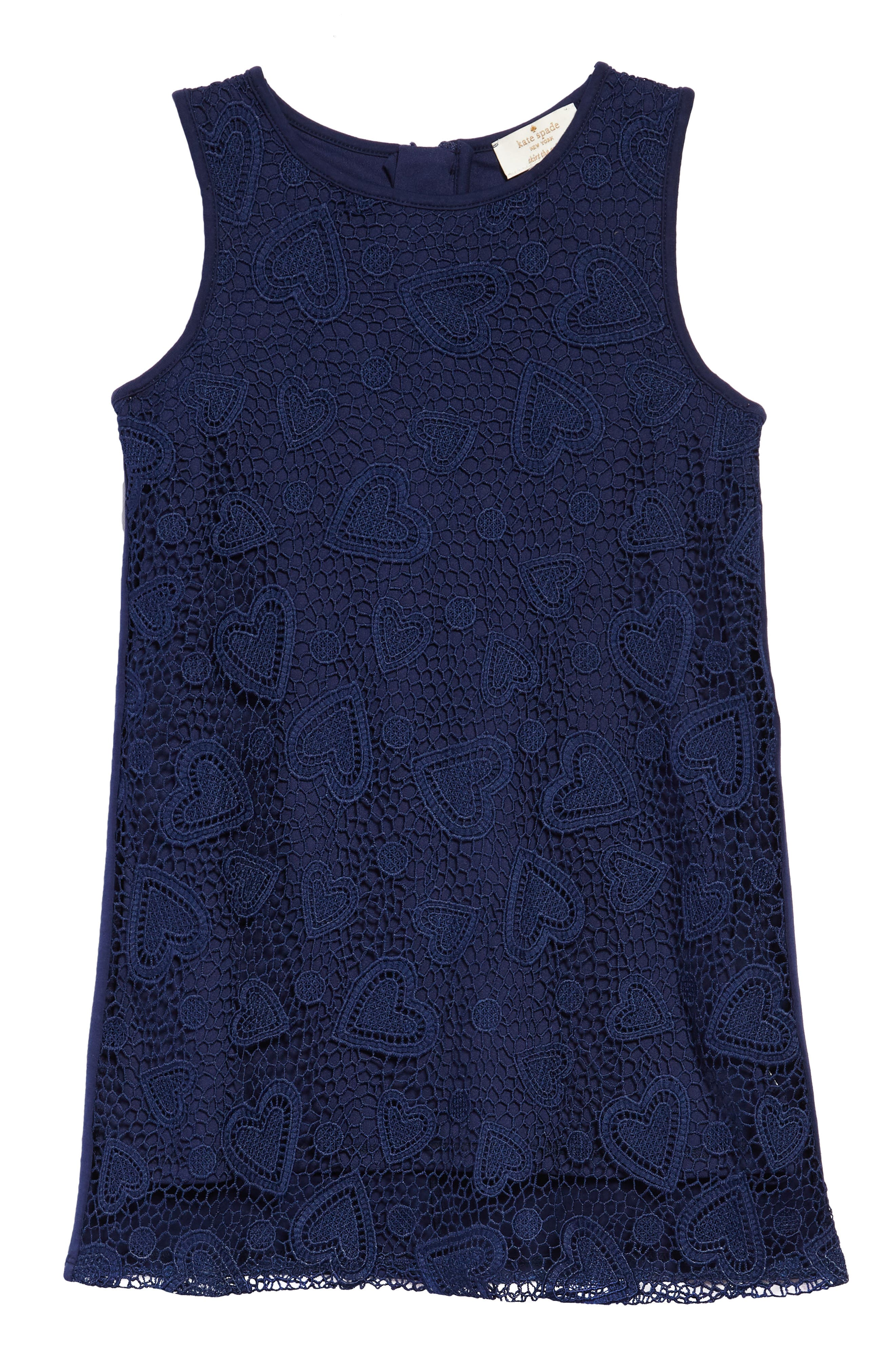 lace shift dress,                         Main,                         color, New Navy
