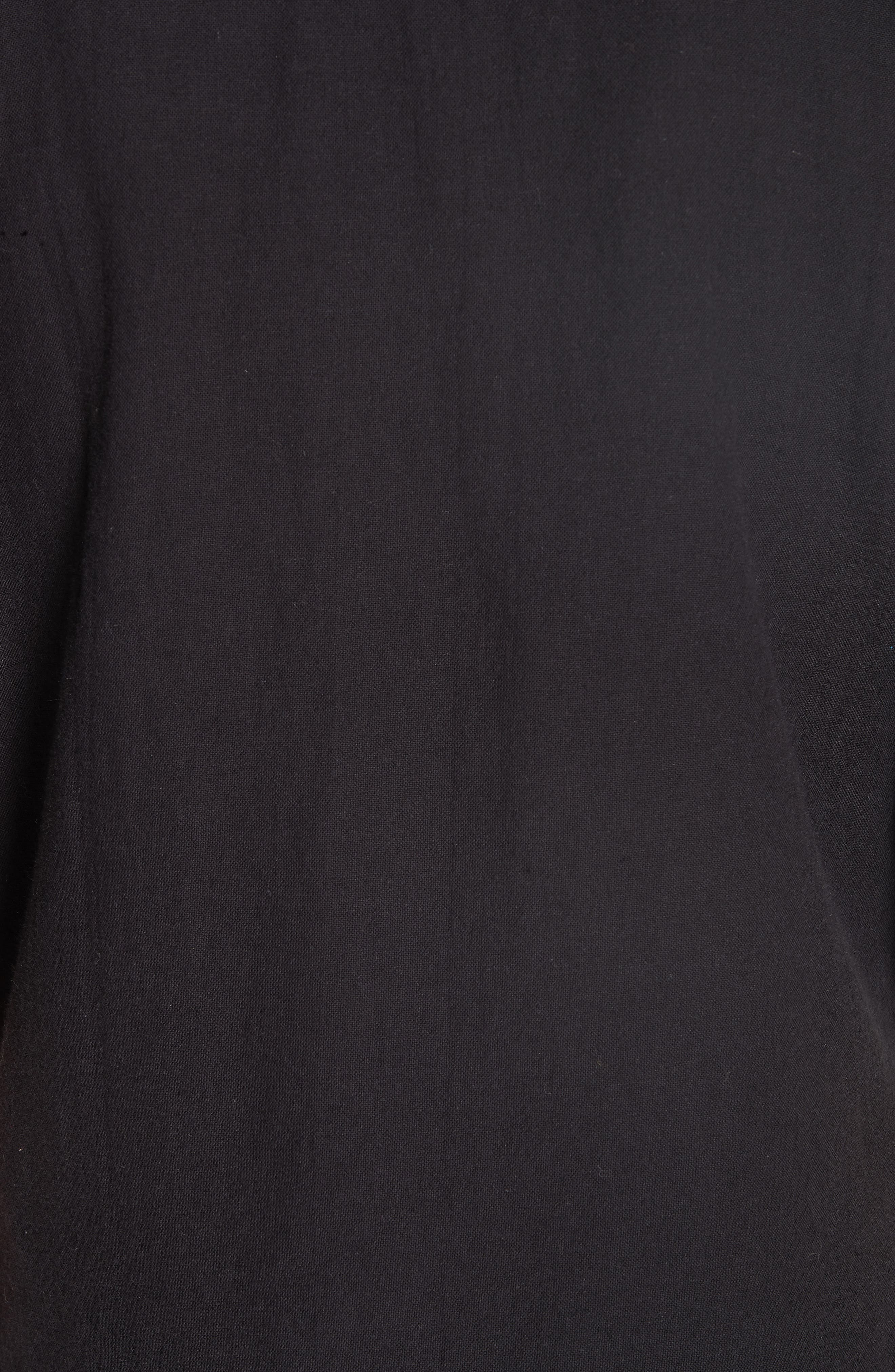 Kimono Sleeve Organic Cotton Blend Jacket,                             Alternate thumbnail 3, color,                             Black