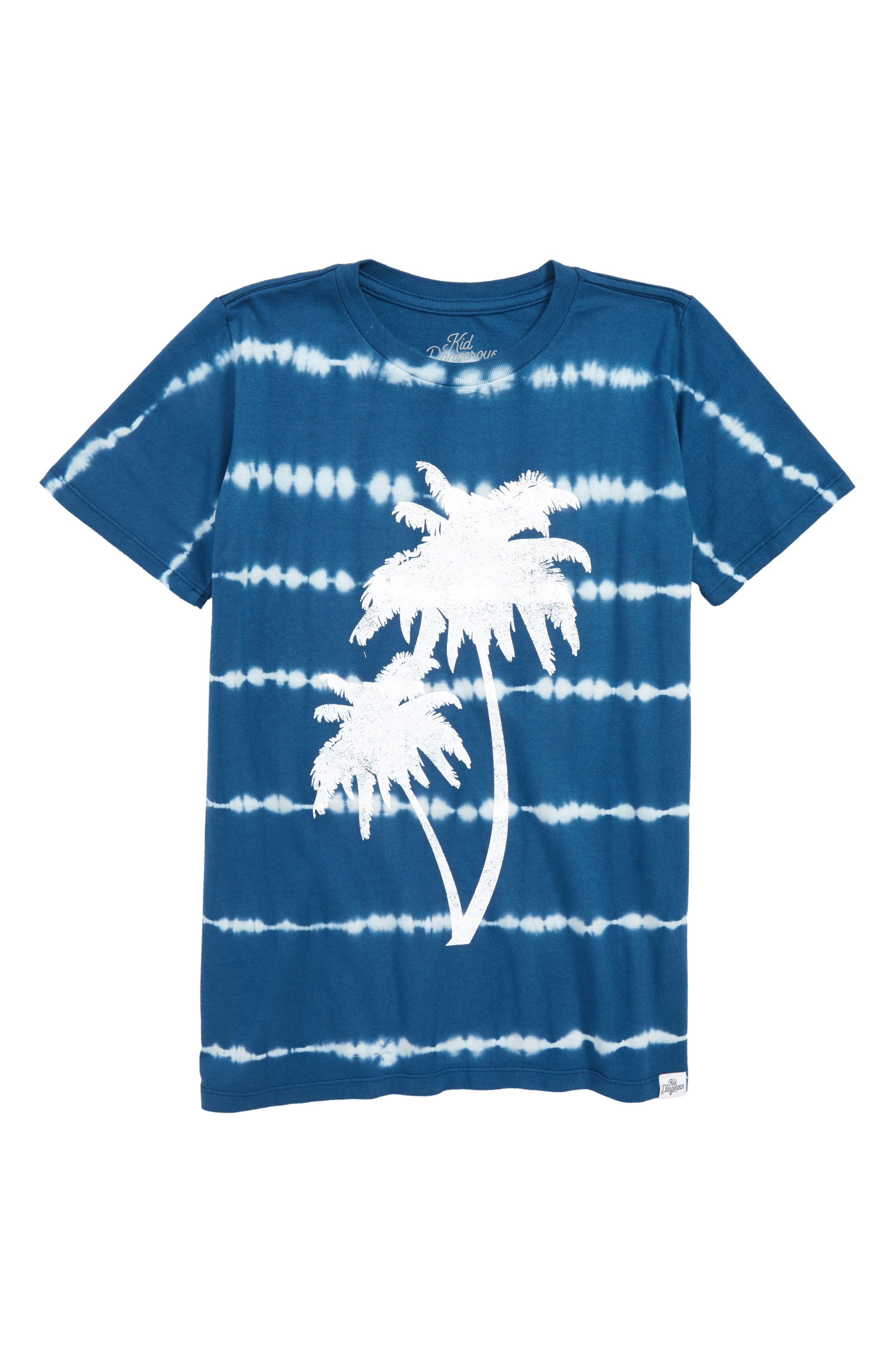Palm Trees T-Shirt,                             Main thumbnail 1, color,                             Navy